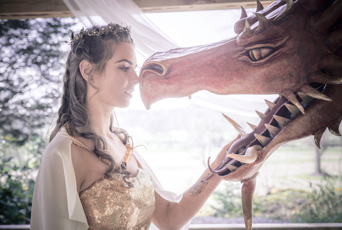 Photo Andy Douglas Photography, styling by that black and white cat weddings 1 - game of thrones wedding - alternative wedding 5