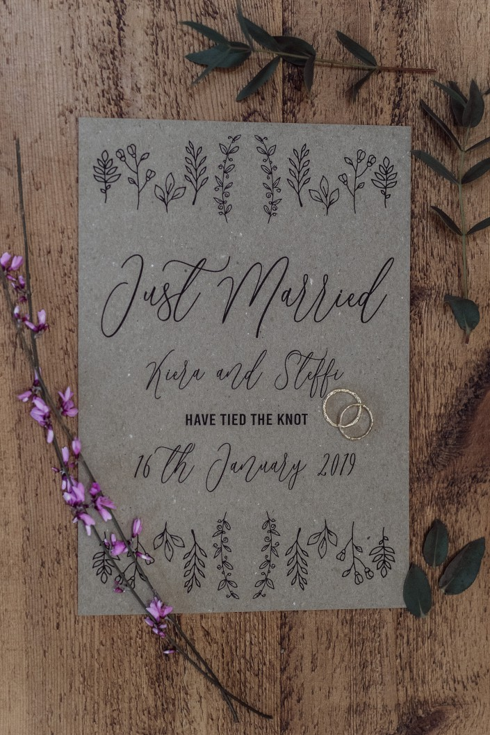 Emma Ryan- Elopement Wedding- Stationery