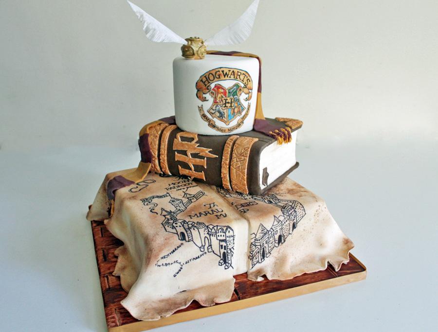 Debbie Gillespie Cake Designs - Harry Potter wedding cake - alternative wedding cake - unique wedding cake - unconventional wedding cake