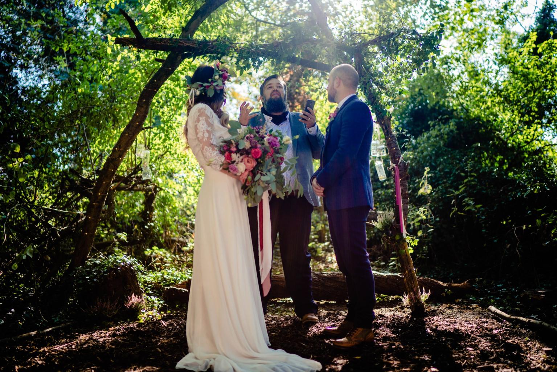 Vicki Clayson Photography- Bohemian Woodland Wedding- Unconventional Wedding- Alternative Wedding- Outdoor Wedding- Handfasting- Unique Wedding