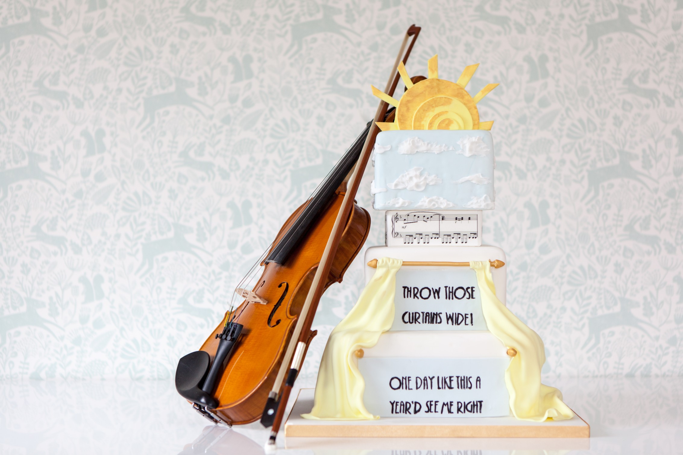 music themed wedding cake - violin wedding cake - the best alternative wedding cake makers
