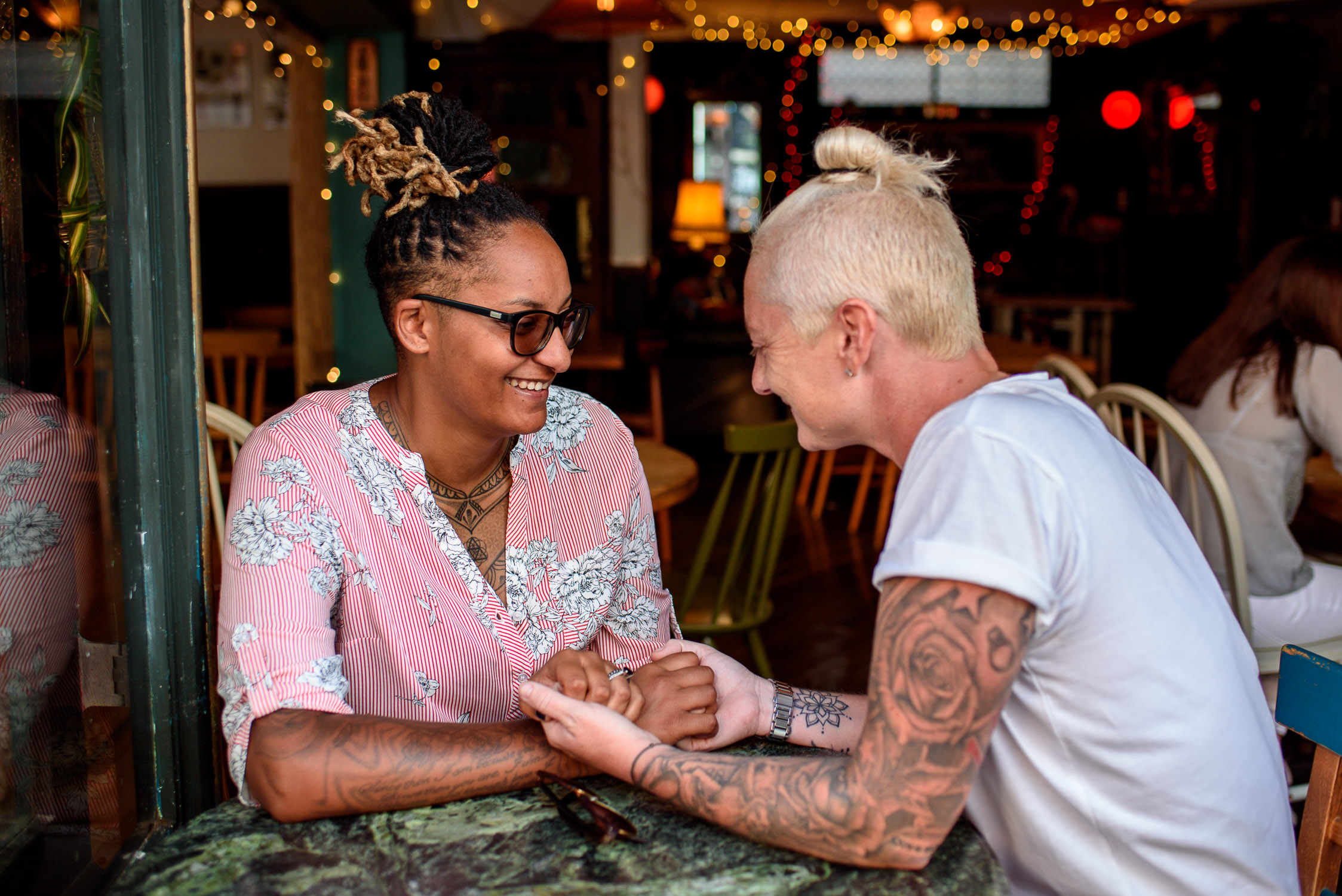 Unique Engagement Photoshoot- Corina Photography- Pride Wedding- Brighton Pride- Unconventional Wedding- Quirky Wedding- Alternative Wedding