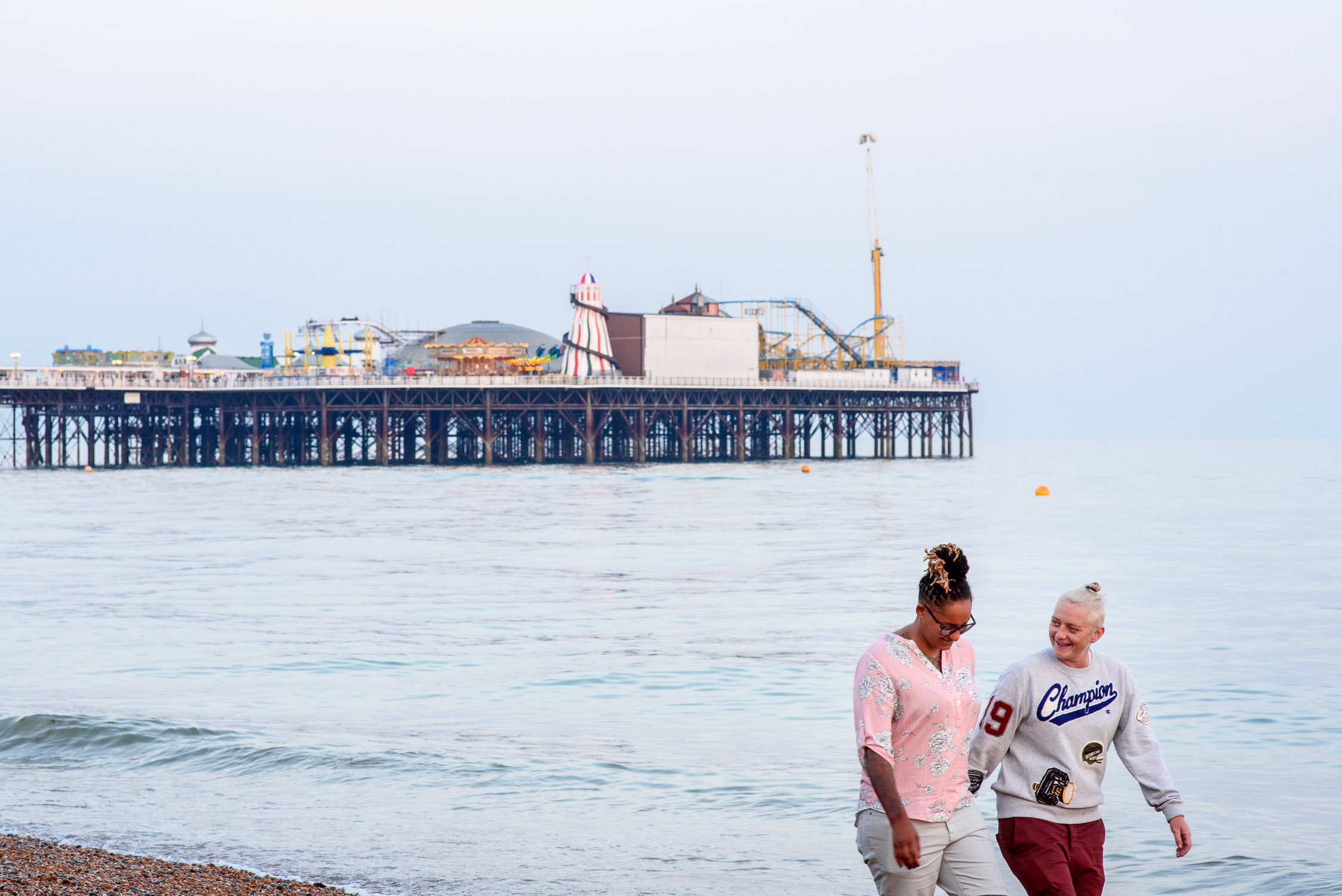 Brighton Pier Wedding- Unique Engagement Photoshoot- Corina Photography- Pride Wedding- Brighton Pride- Unconventional Wedding- Quirky Wedding- Alternative Wedding