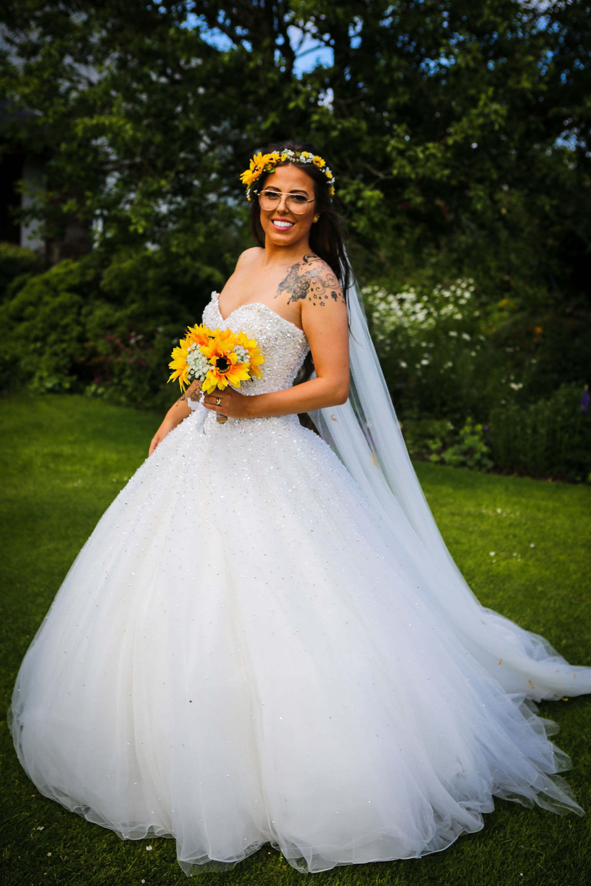 Harriet&Rhys Wedding - Magical sunflower wedding - bridalwear inspiration