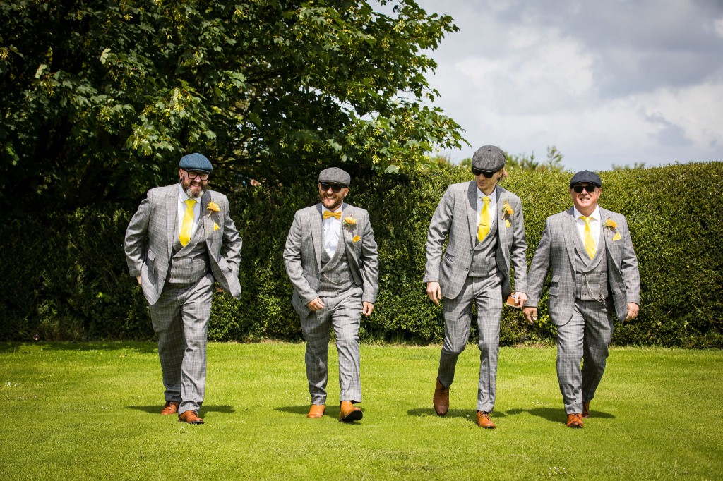 Harriet&Rhys Wedding - Magical sunflower wedding - quirky wedding - grooms party