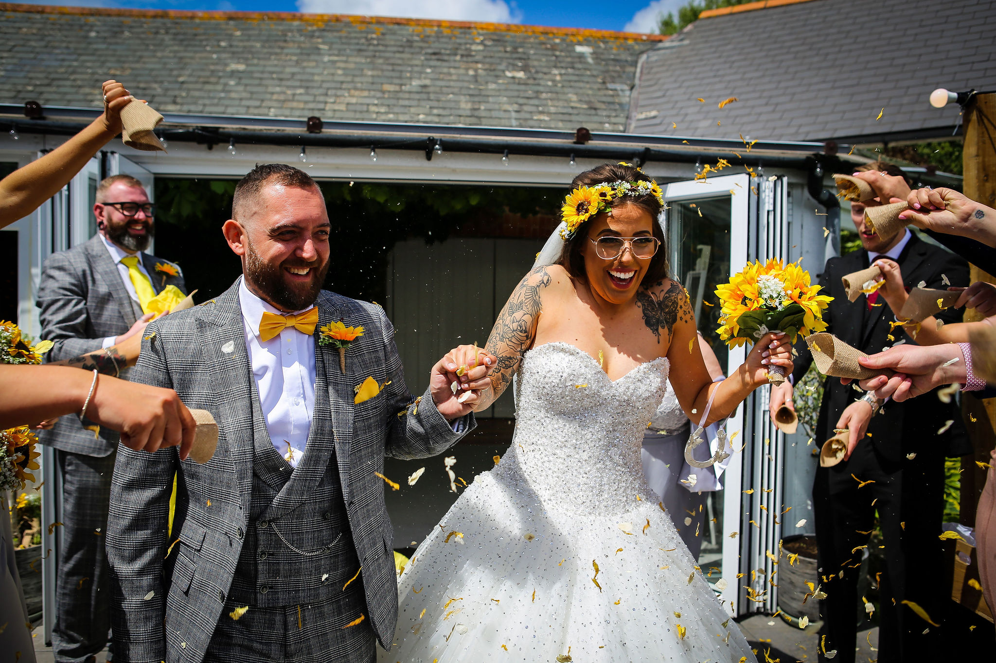 Harriet&Rhys Wedding - Magical sunflower wedding - quirky wedding with dodgems (31)