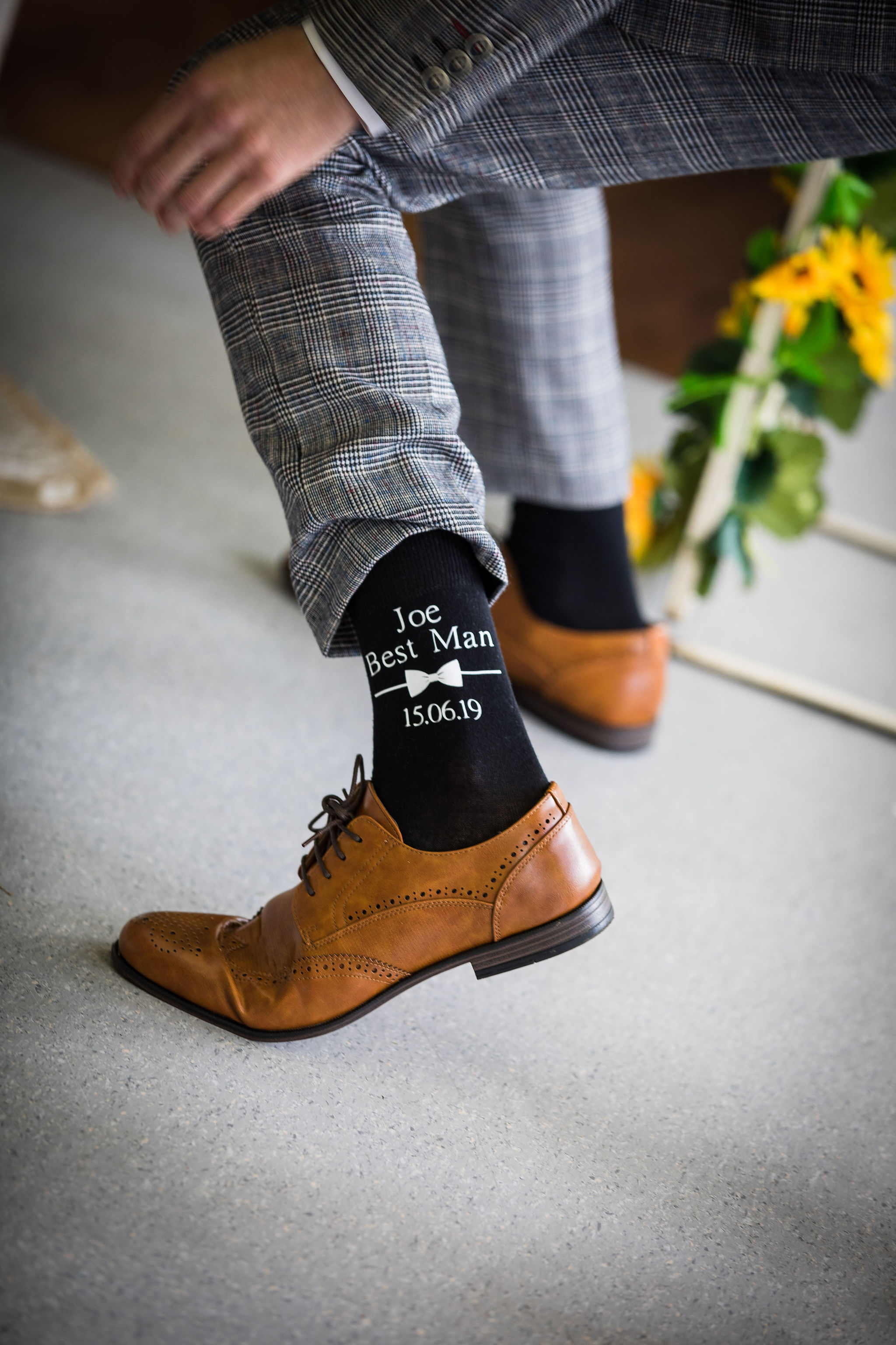 Harriet&Rhys Wedding - Best Man socks