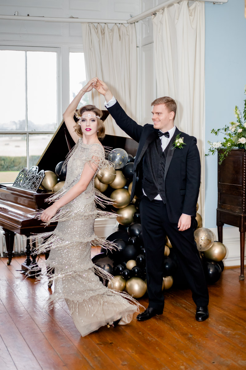Great Gatsby Wedding- 20s Wedding- Unconventional Wedding- Alternative Wedding- Quirky Wedding- Vintage Wedding- Glamorous Wedding- Quirky Wedding Ideas- Alternative Wedding Dress- Unique Bridalwear