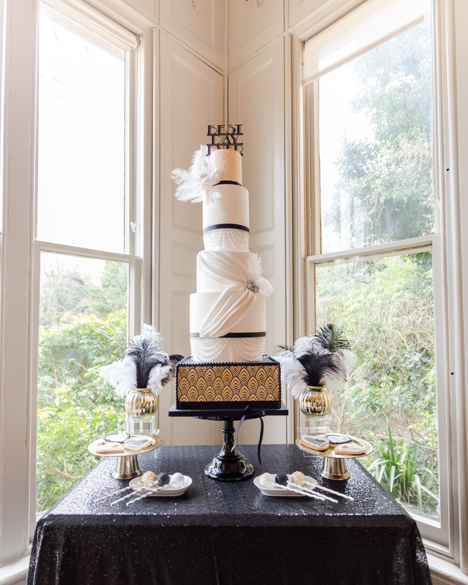 Great Gatsby Wedding- 20s Wedding- Unconventional Wedding- Alternative Wedding- Quirky Wedding- Vintage Wedding- Glamorous Wedding- Quirky Wedding Ideas- Alternative Wedding Dress- Unique Wedding Cake