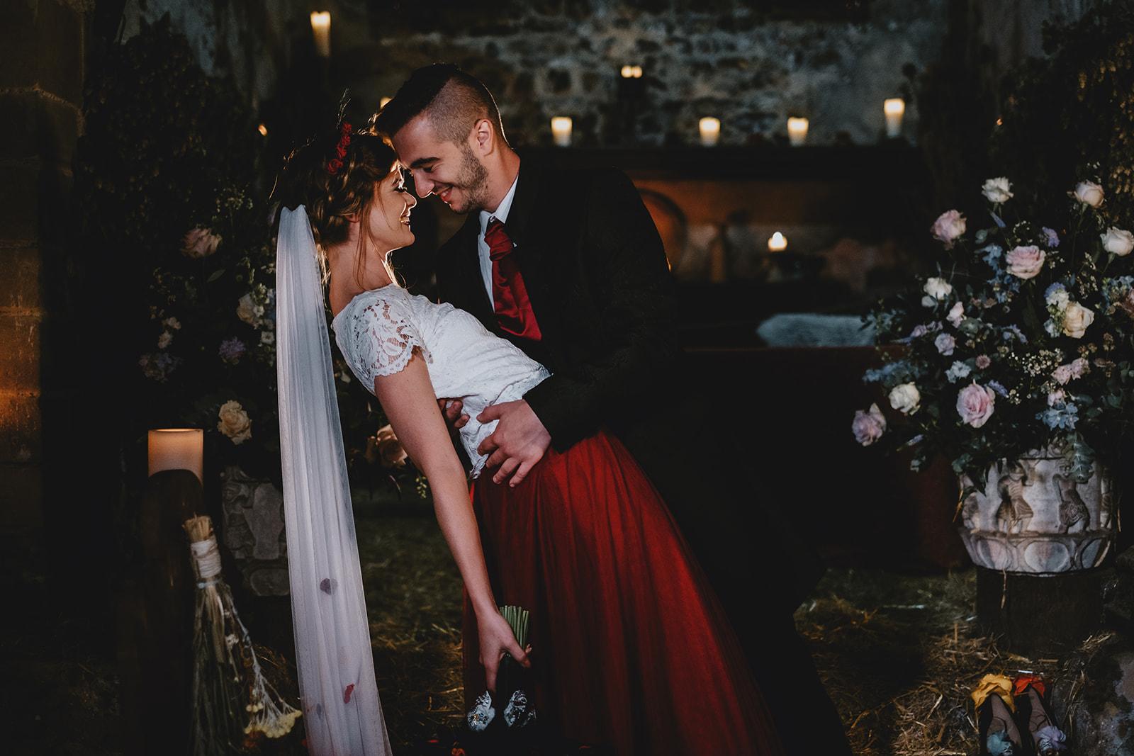Halloween Wedding- Gothic Wedding- Alternative Wedding- Unique Wedding Dress