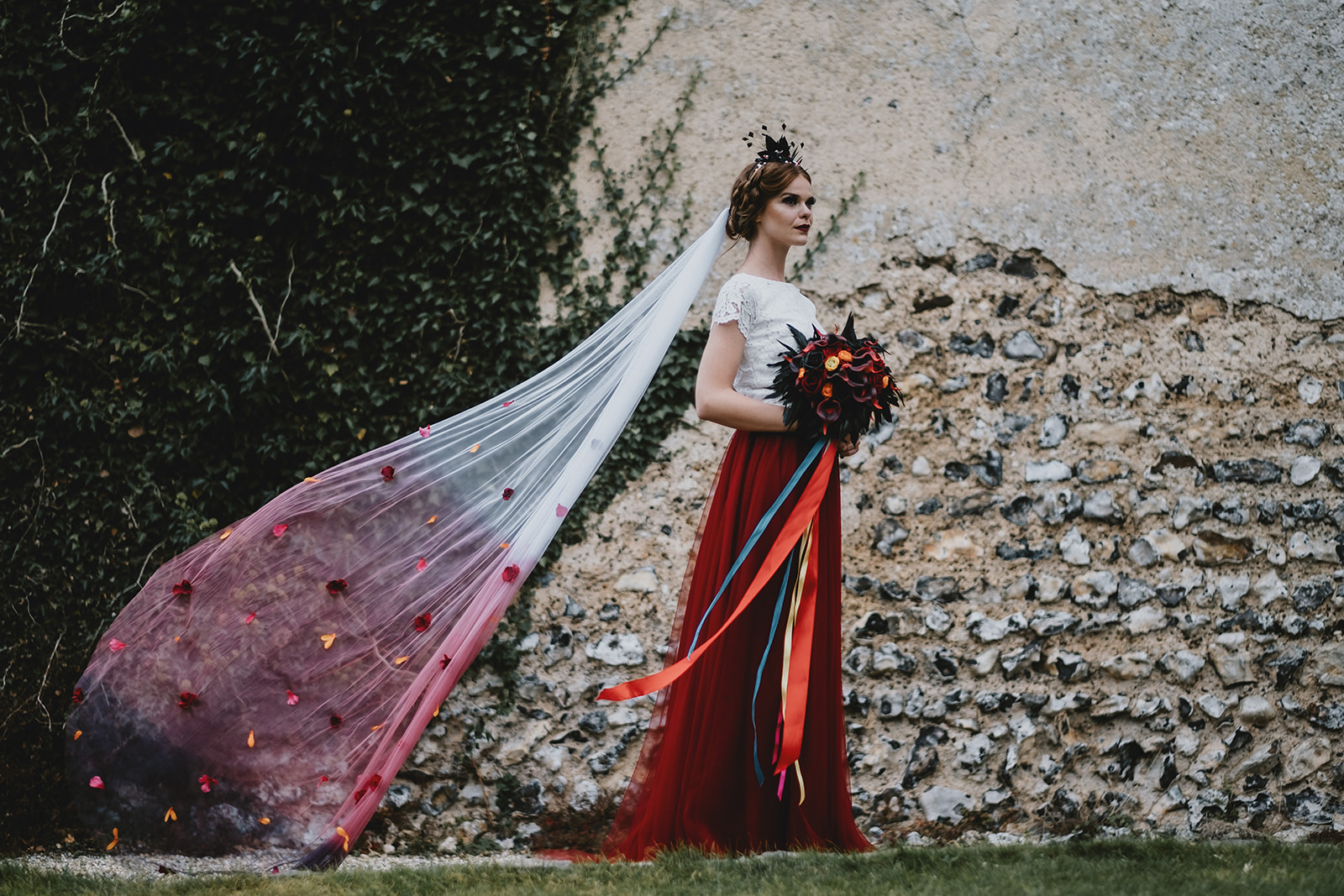 Halloween Wedding- Gothic Wedding- Alternative Wedding- Unique Wedding Dress