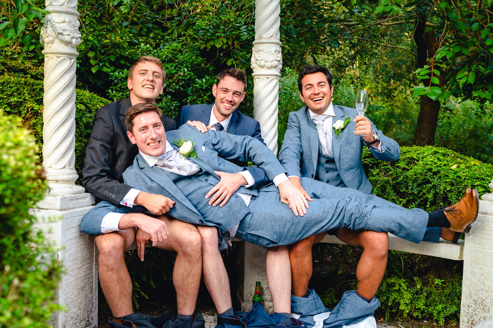 Relaxed wedding, Funny groomsmen photo, The Dignums Photography, Unconventional Wedding, Alterative Wedding, Chilled out wedding, simple wedding, quirky wedding inspiration, wedding planning, unique wedding