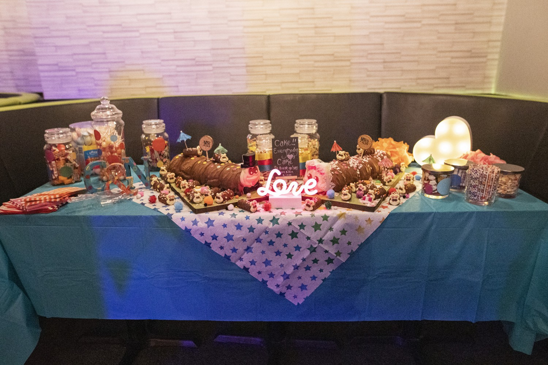 Rainbow DIY Wedding- Stephanie Butt Photography-Colourful Wedding- Unconventional Wedding- Alternative Wedding- Rainbow Wedding, Wedding Desert Table