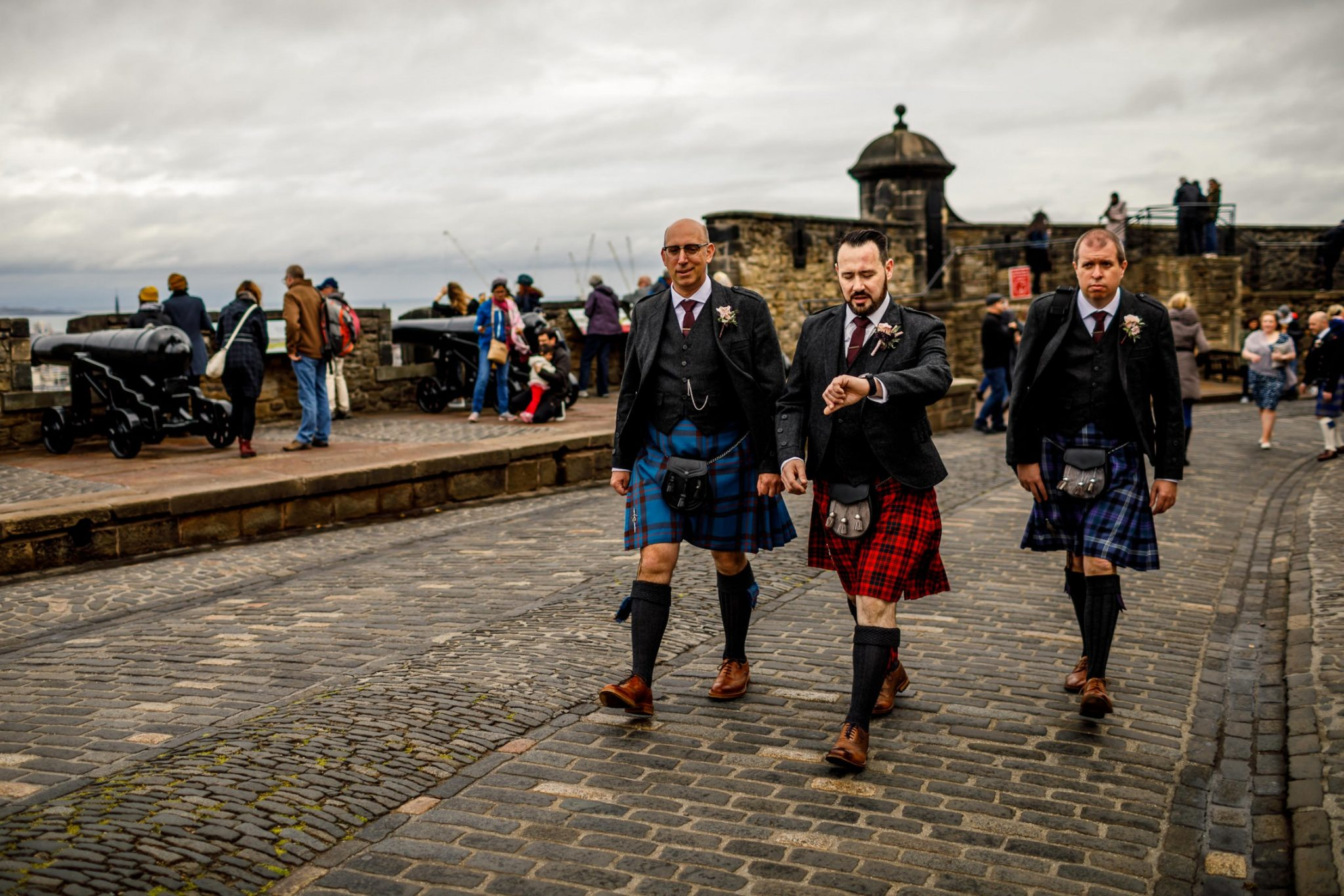 Unique Wedding Venues- Unconventional Wedding- Lina & Tom Photography- groomsmen arriving at wedding