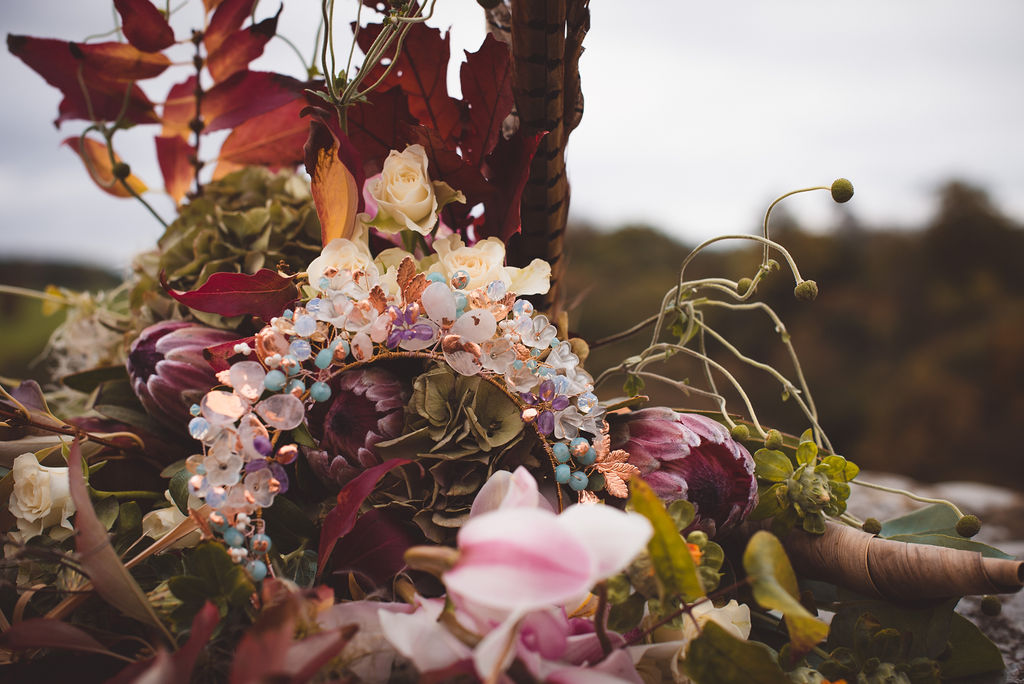 Autumn Wedding, Fantasy Wedding, Winter Wedding, Unconventional Wedding, Alternative Wedding, Alternative Wedding Dress- Bridal Accessories- Unique Wedding Ideas