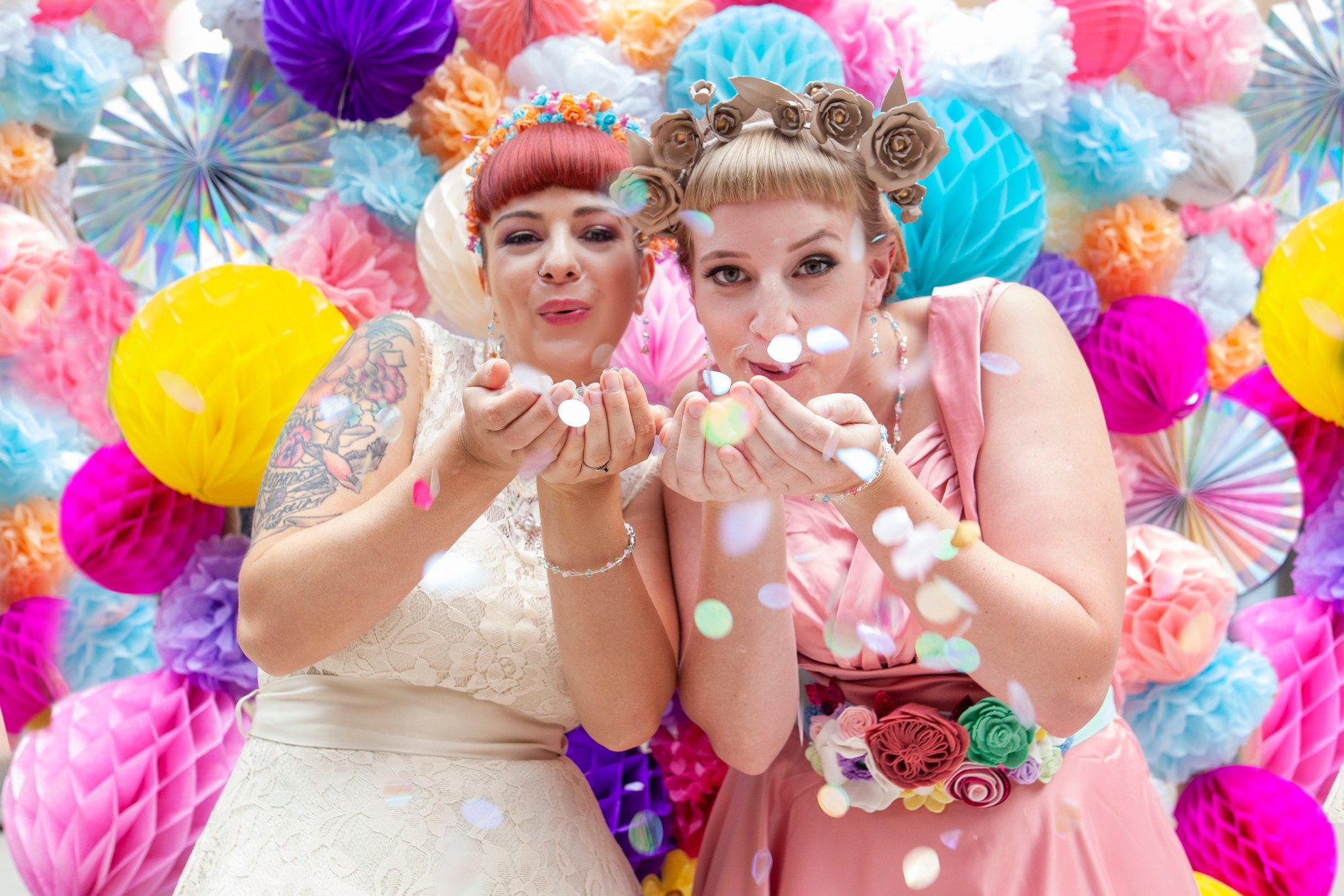tying the nott- east midlands alternative wedding fair - colourful and creative wedding inspiration