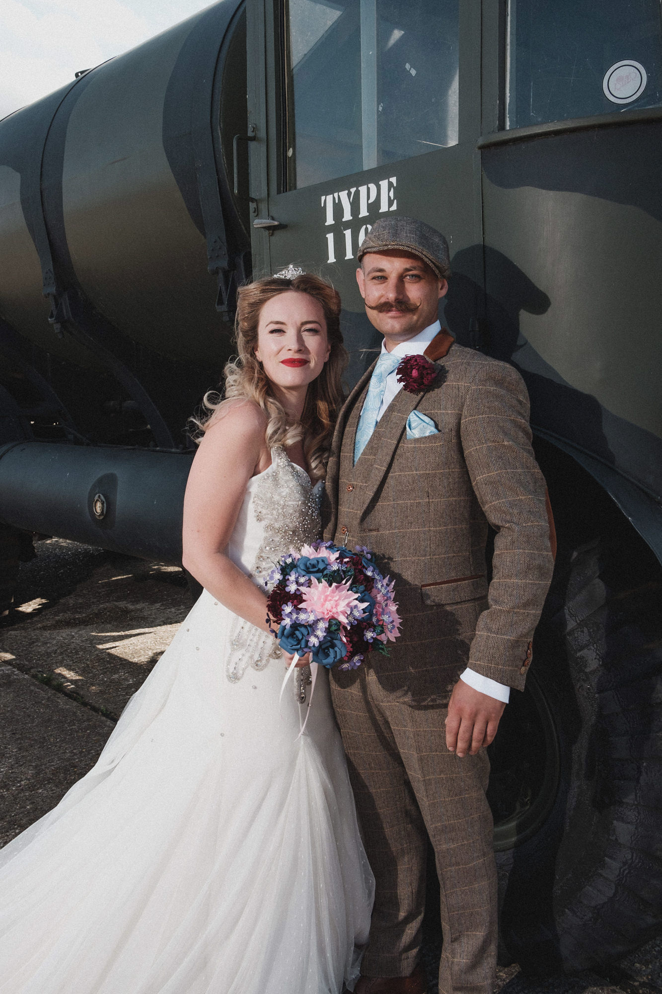 Heritage Aviation Wedding, Second and Wedding Dress, 1940s Wedding, Unconventional Wedding, Alternative Wedding, Vintage Wedding