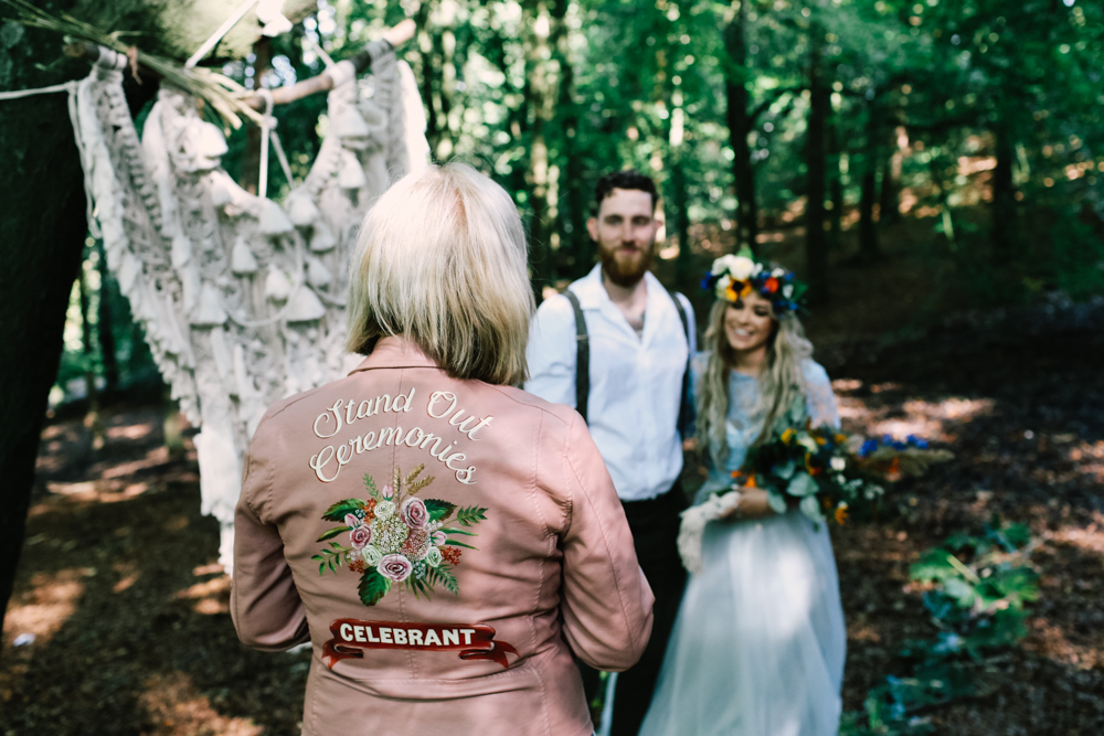 wedding celebrant - micro-wedding - forest elopement - small weddings - alternative wedding - outdoor wedding - covid wedding