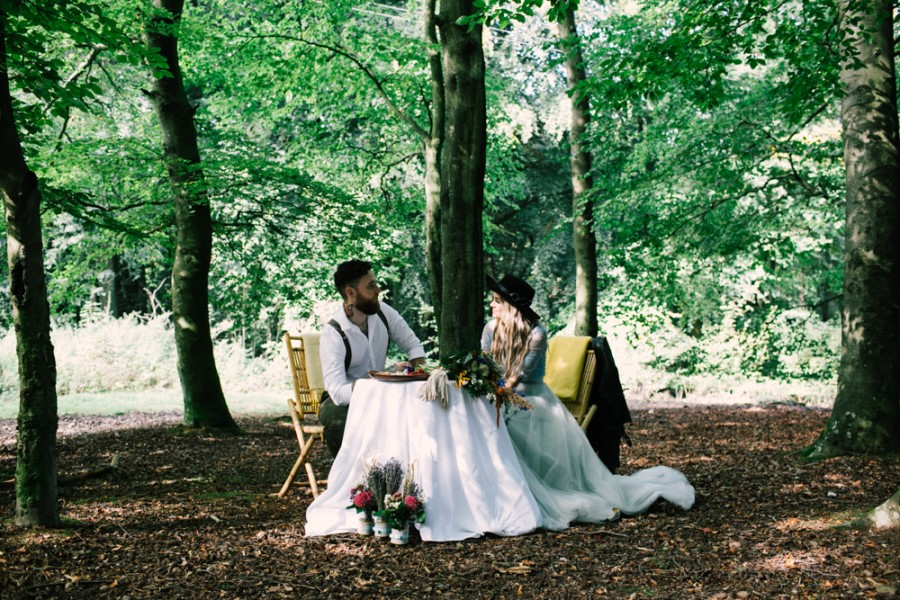 elopement wedding meal - micro-wedding - forest elopement - small weddings - alternative wedding - outdoor wedding - covid wedding