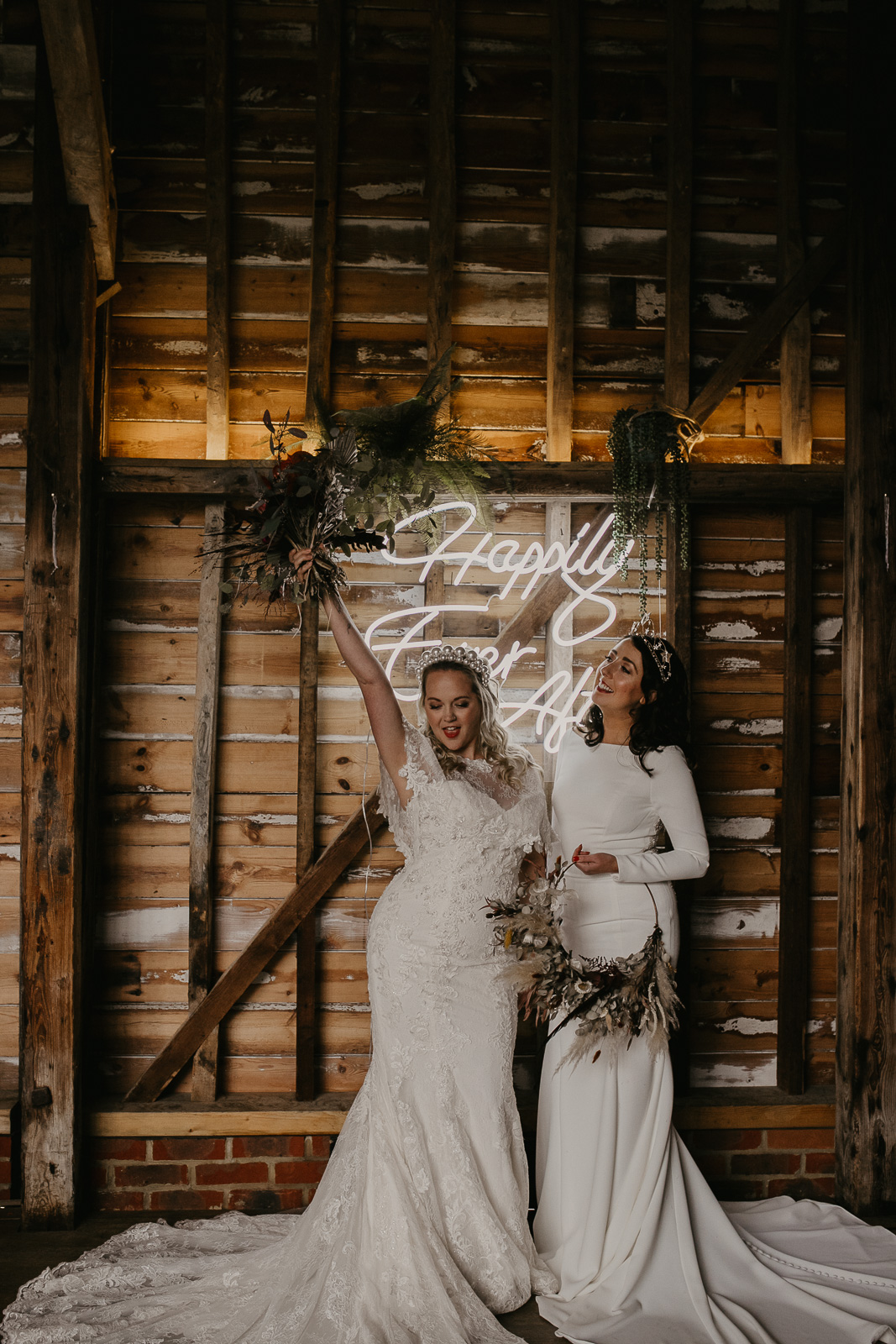 Modern barn wedding- jessica lily photography- unconventional wedding- wedding styled shoot- two brides