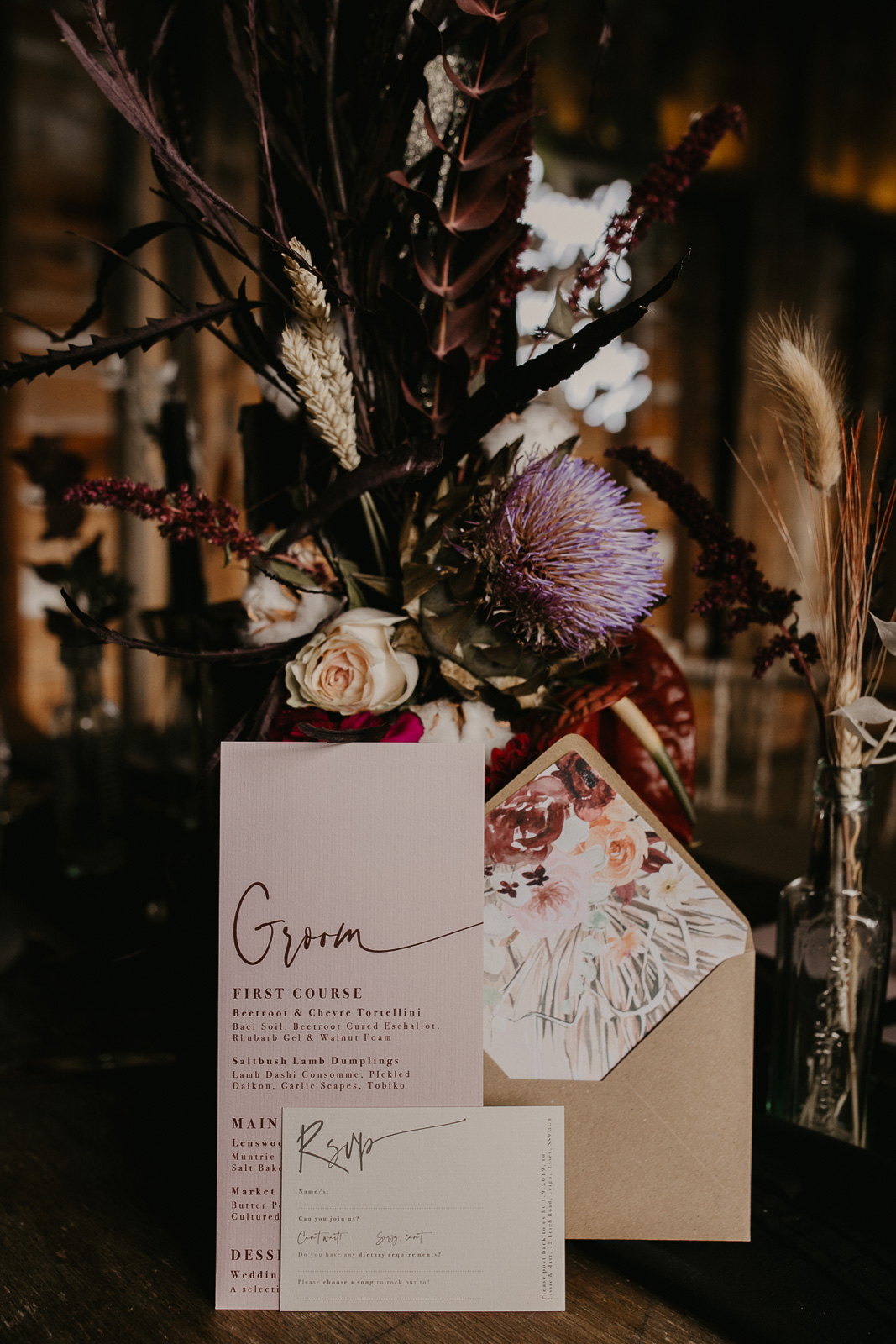 Modern barn wedding- jessica lily photography- unconventional wedding- autumn neon wedding- unique wedding flower- unique wedding stationery