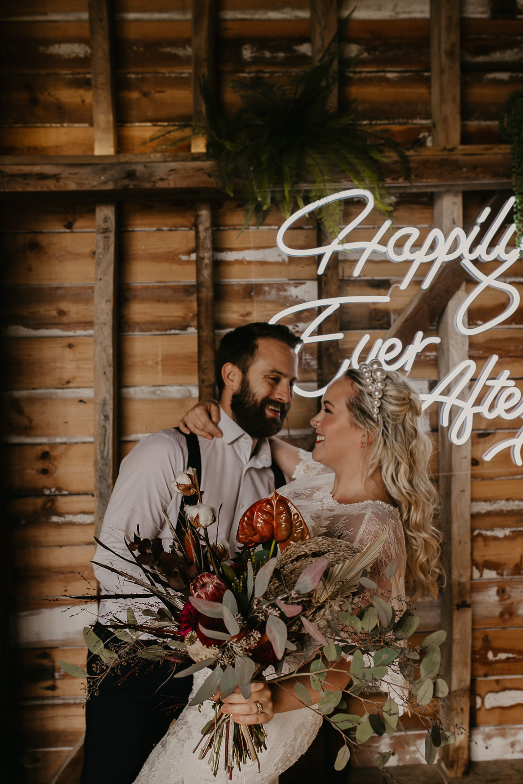 Modern barn wedding- jessica lily photography- unconventional wedding- happy couple- alternative weddings