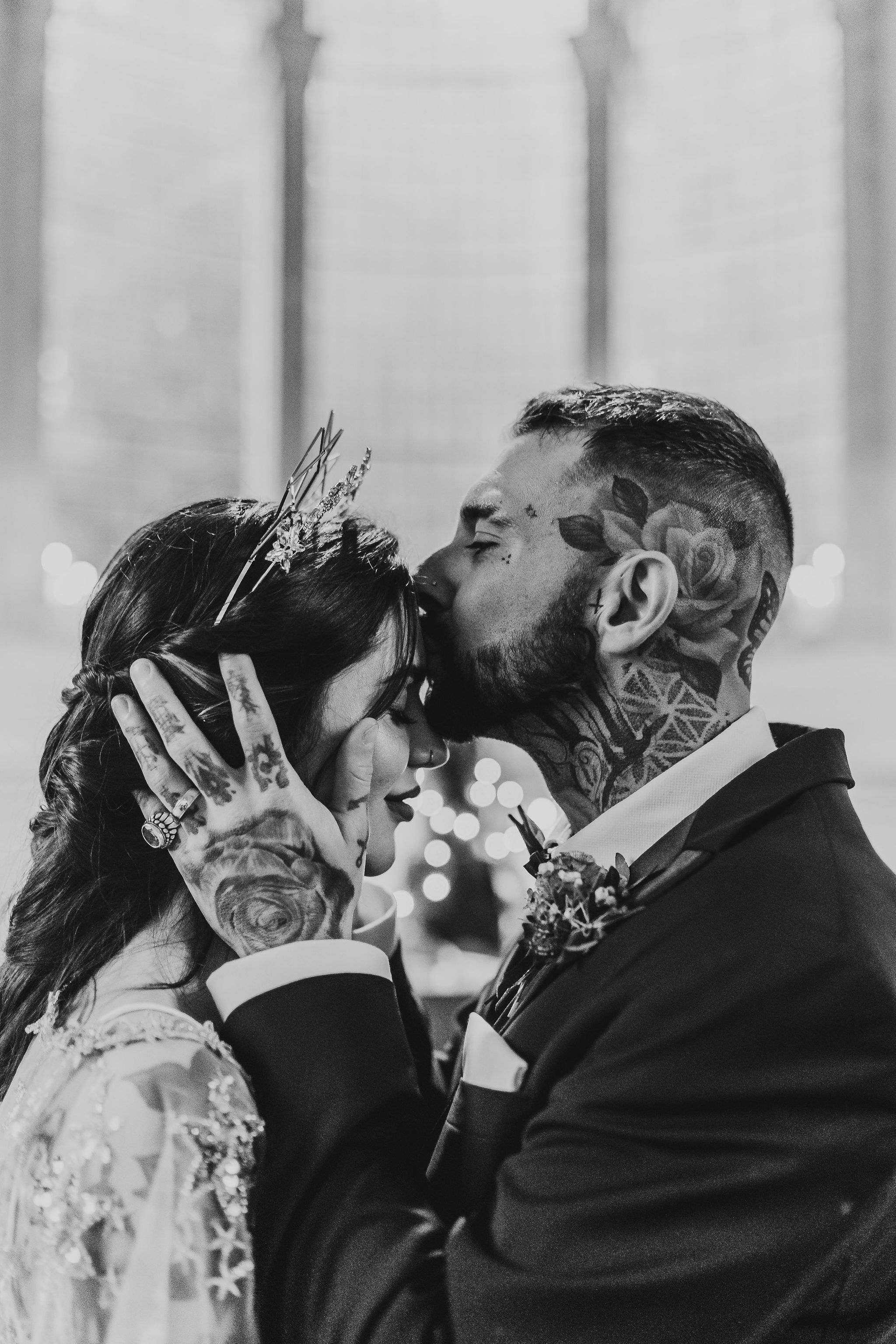 Leesha Williams Photography- Unconventional Wedding- Celestial Wedding Inspiration- alternative wedding- tattooed couple