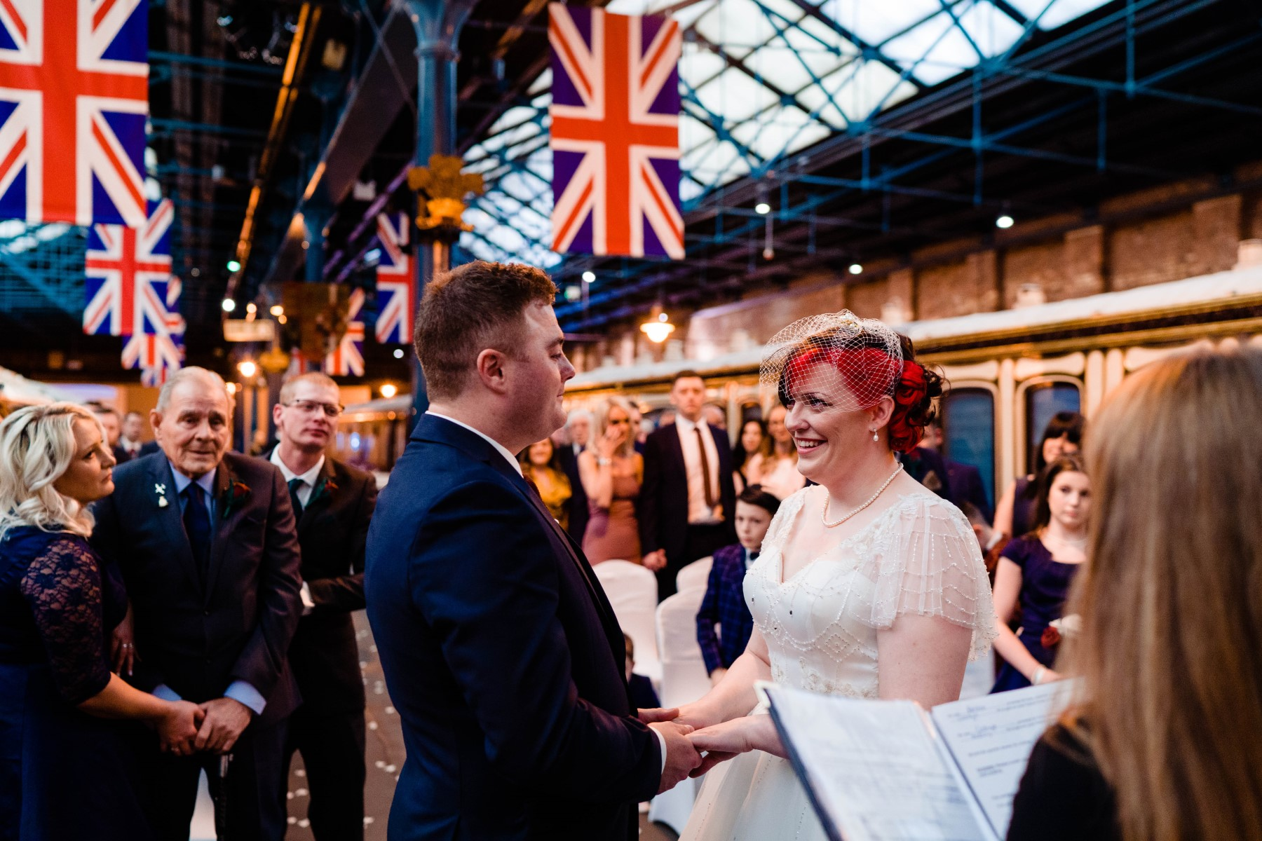 Industrial Railway Wedding- Vicki Clayson Photography- Unconventional Wedding- Unique Wedding Venue- patriotic wedding ceremony