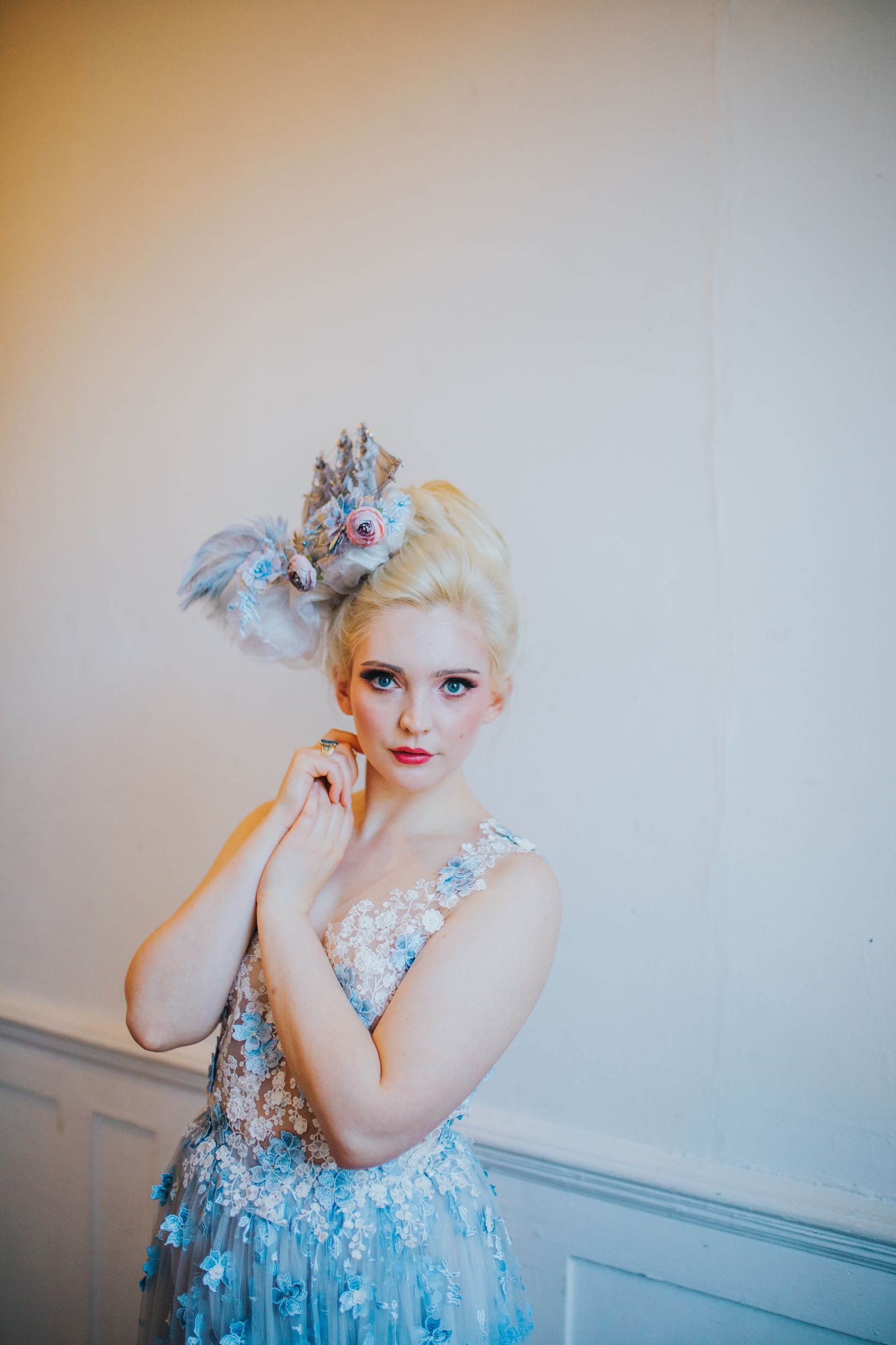 whimsical wedding- pastel wedding- laura beresford photography- unique bridalwear- alternative bridalwear- unique bridal look- bold wedding accessories