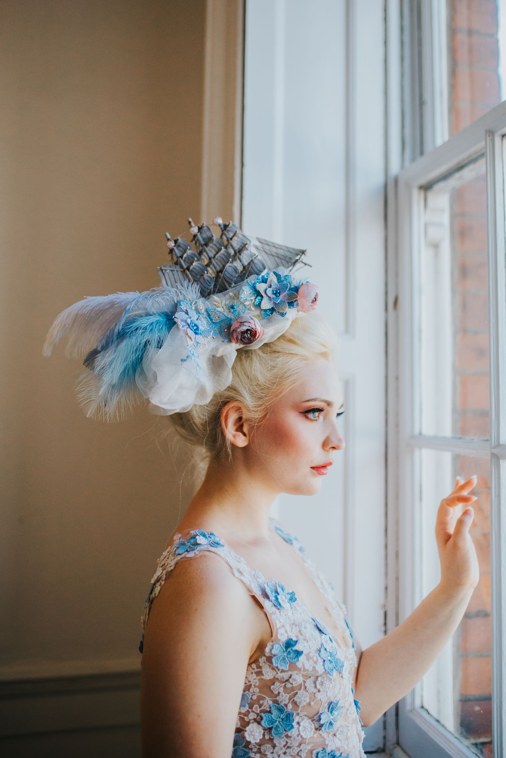 Whimsical wedding- Laura Beresford Photography- unconventional wedding- alternative wedding- unique wedding headpiece