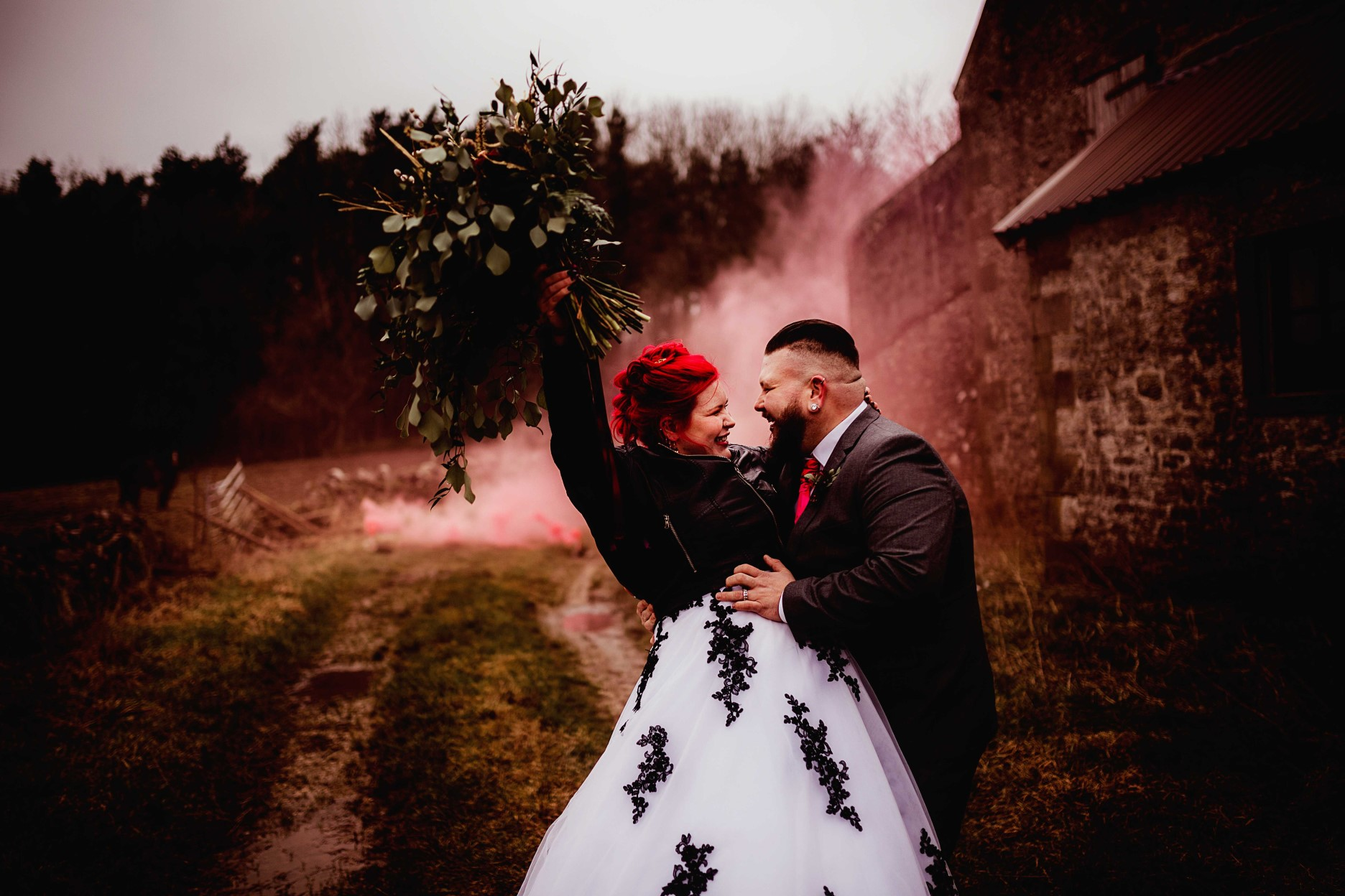 Gothic Wedding Ideas- Gothic Fairytale Wedding- Unconventional Wedding- Wedding Smokebomb