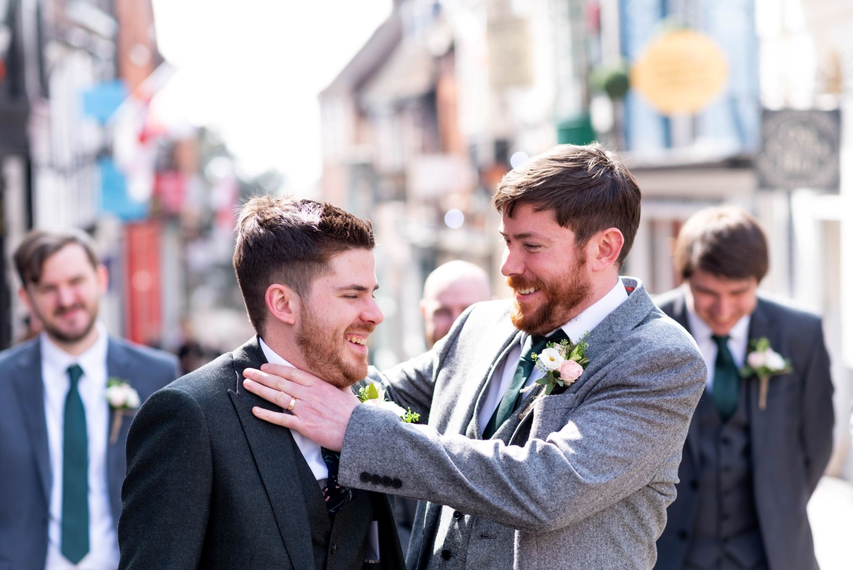 Getting Married Abroad- Grooms Perspective- Wedding Planning for Men- Unconventional Wedding- Pudding And Plum Photography- Photography- Groom and best man laughing