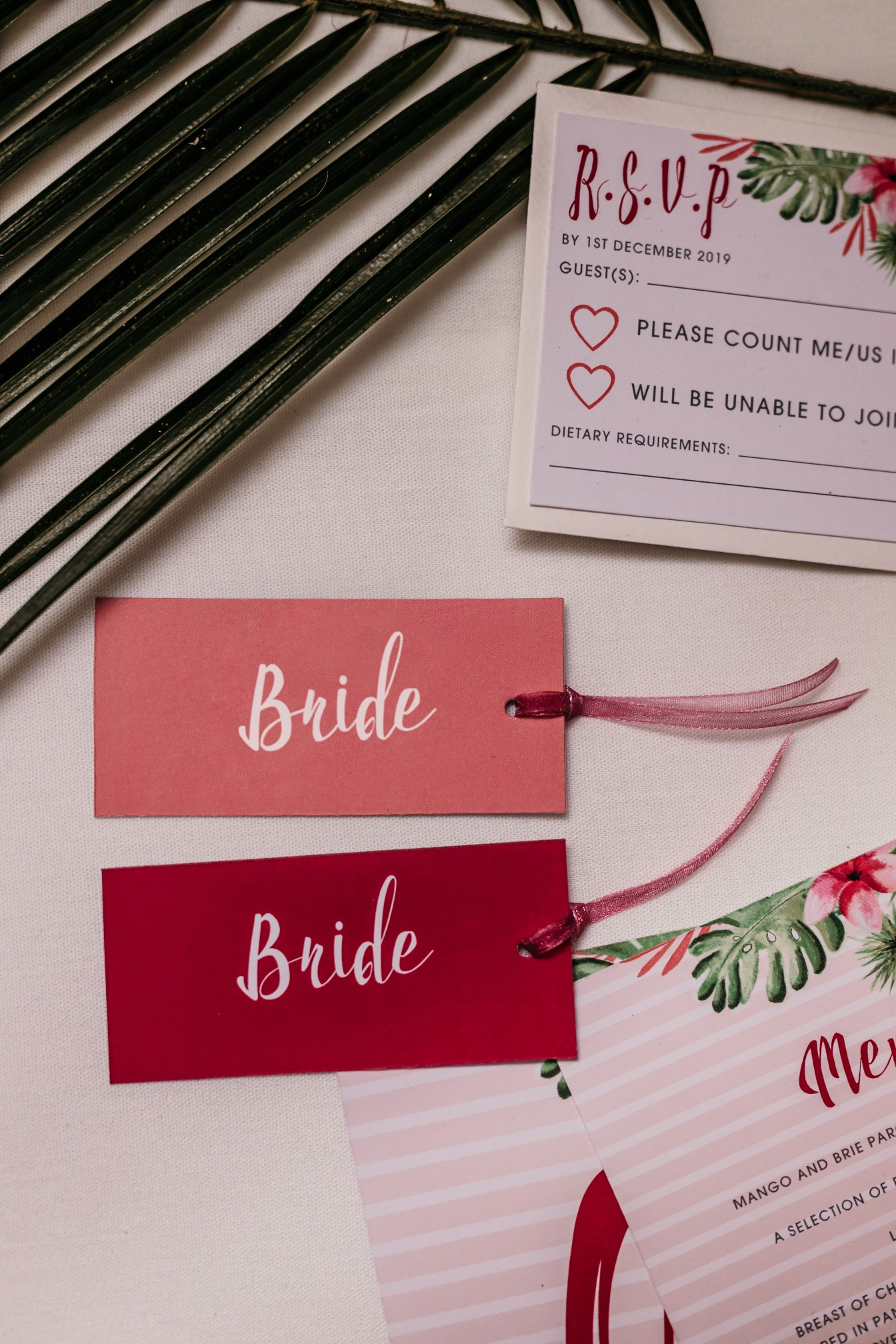 tropical opulence wedding- tropulence- twigs branch photography- unconventional wedding- wedding rsvp