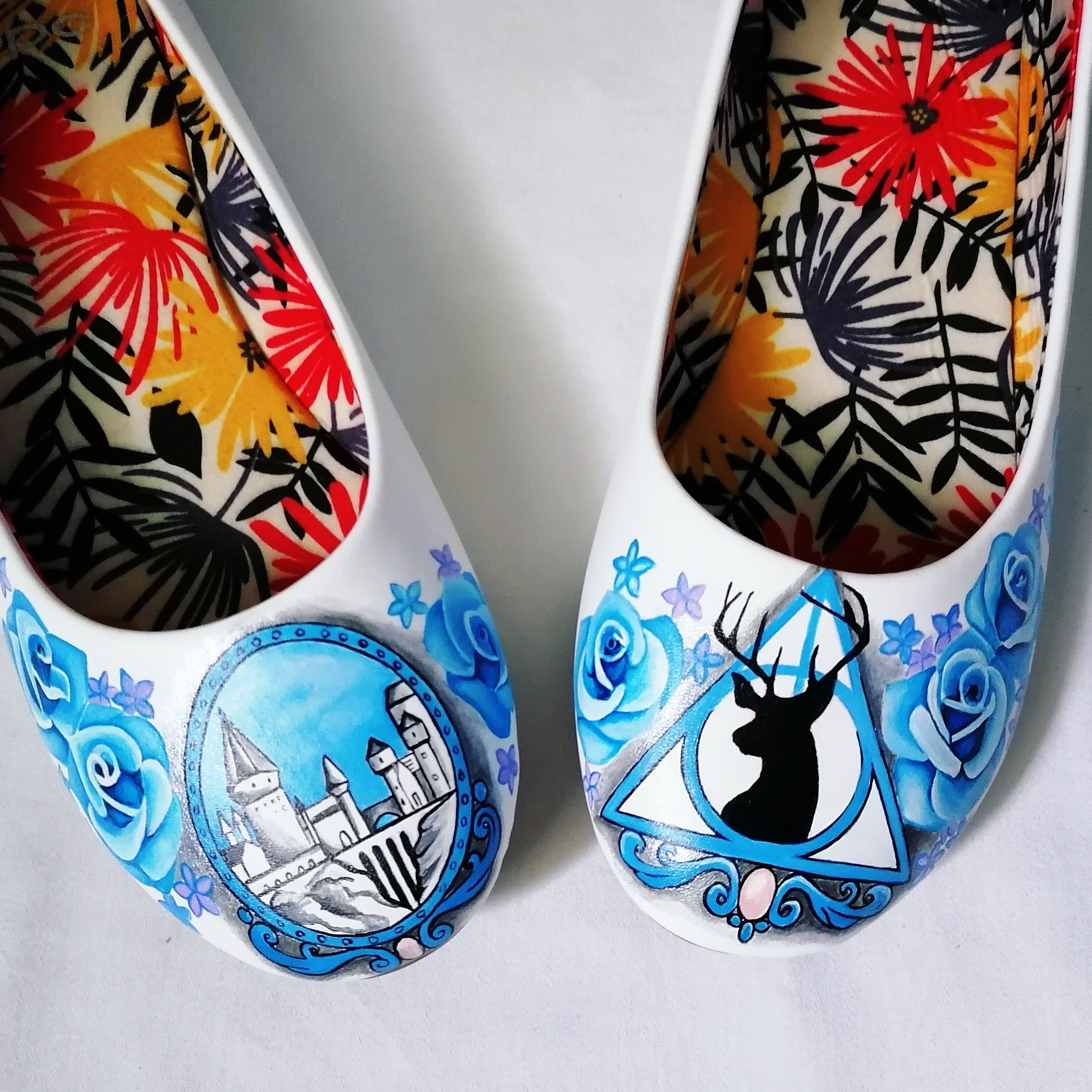 Inanna Bespoke Shoes- Harry Potter Wedding Shoes- Hand Painted Wedding Shoes- Harry Potter Wedding 3