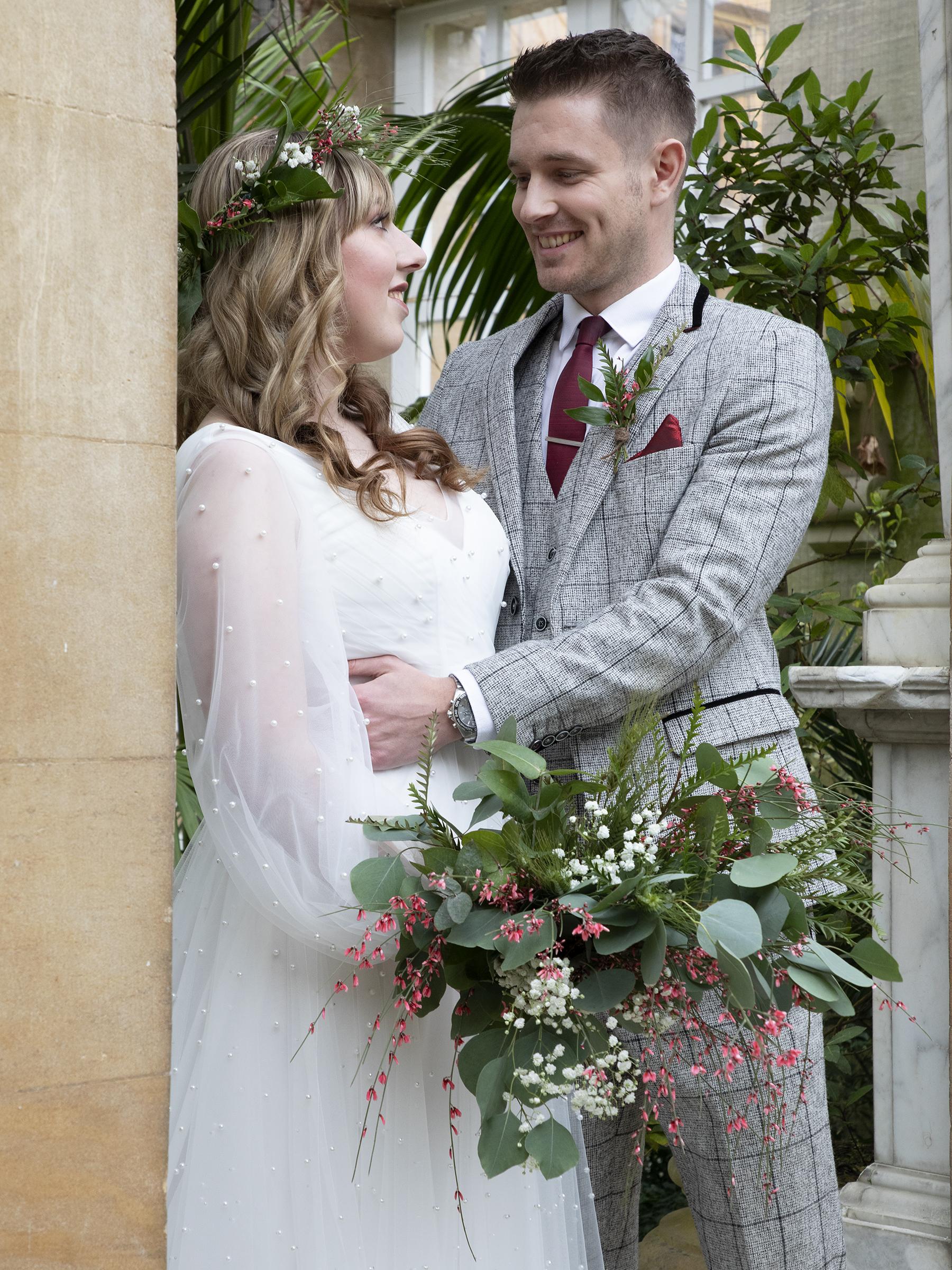 Tropical Boho Wedding- Pink Photographics- Greenhouse Wedding- Harlaxton Wedding- Unconventional Wedding- Unique Wedding Ideas 16