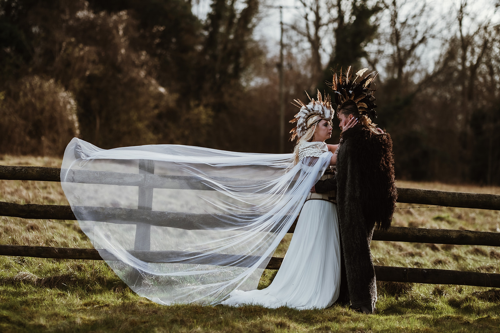 Game Of Thrones Wedding- Tom Jeavons Photography- Unconventional Wedding- Fantasy Wedding- Themed Wedding- unique wedding headpieces- wedding mohawk