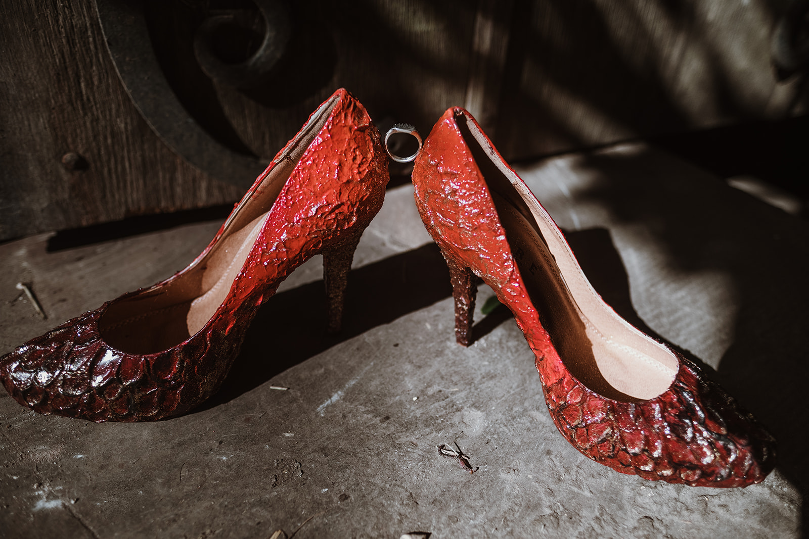 Game Of Thrones Wedding- Tom Jeavons Photography- Unconventional Wedding- Fantasy Wedding- Themed Wedding- red wedding shoes- unique wedding shoes