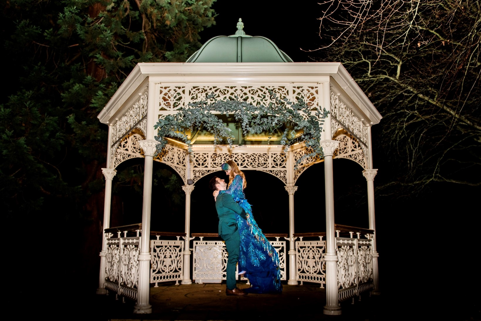 peacock wedding- unconventional wedding- unique wedding venue- peacock wedding dress- unique wedding styling- alternative wedding