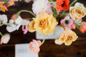 VoytekPhotography1 - iris and co - london wedding florist - unique wedding flowers - peach and pink flowers