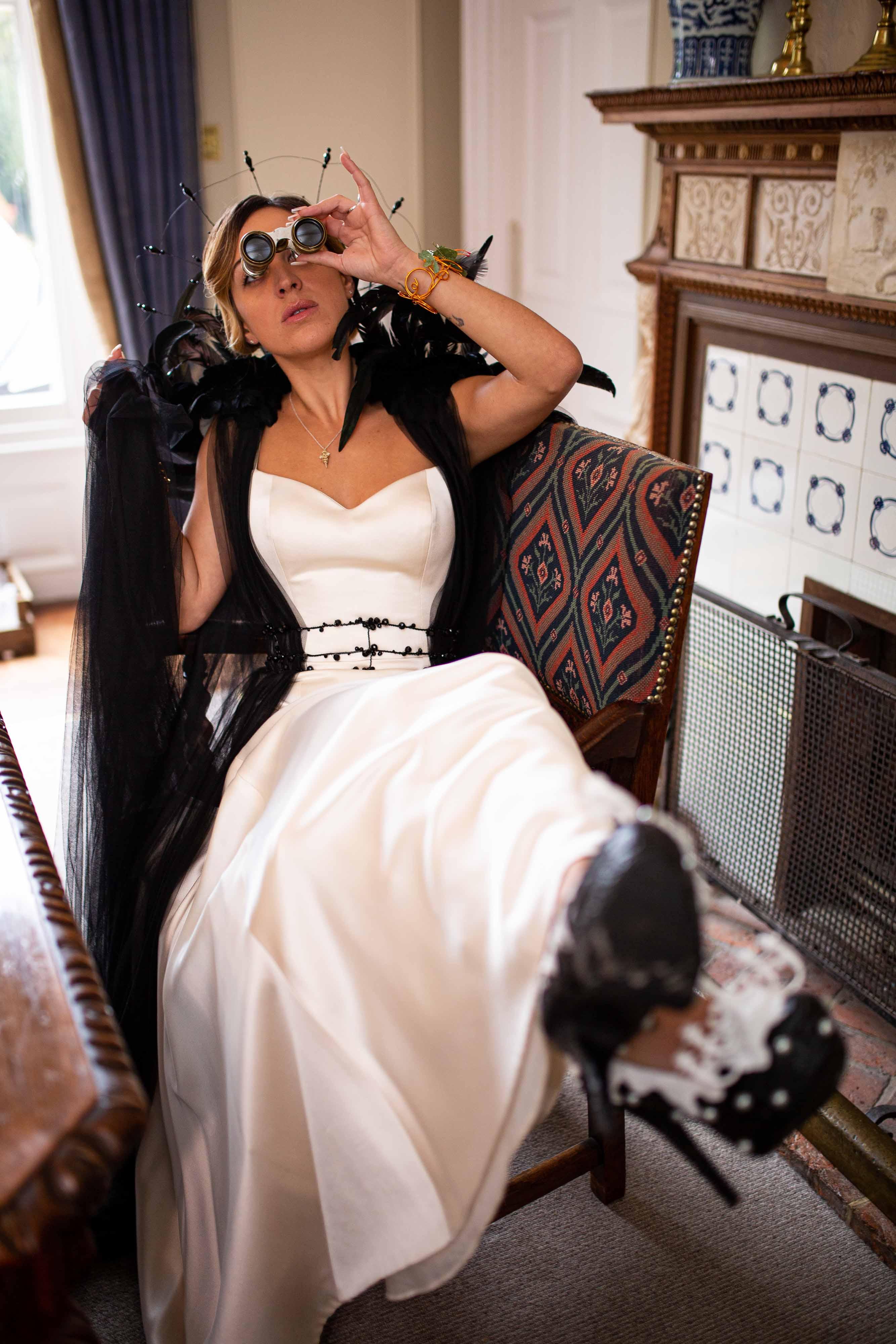 iconic wedding looks- music themed wedding- unconventional wedding- alternative wedding- eclectic wedding dress-alternative wedding dress- unique wedding dress- creative wedding- lady gaga wedding look