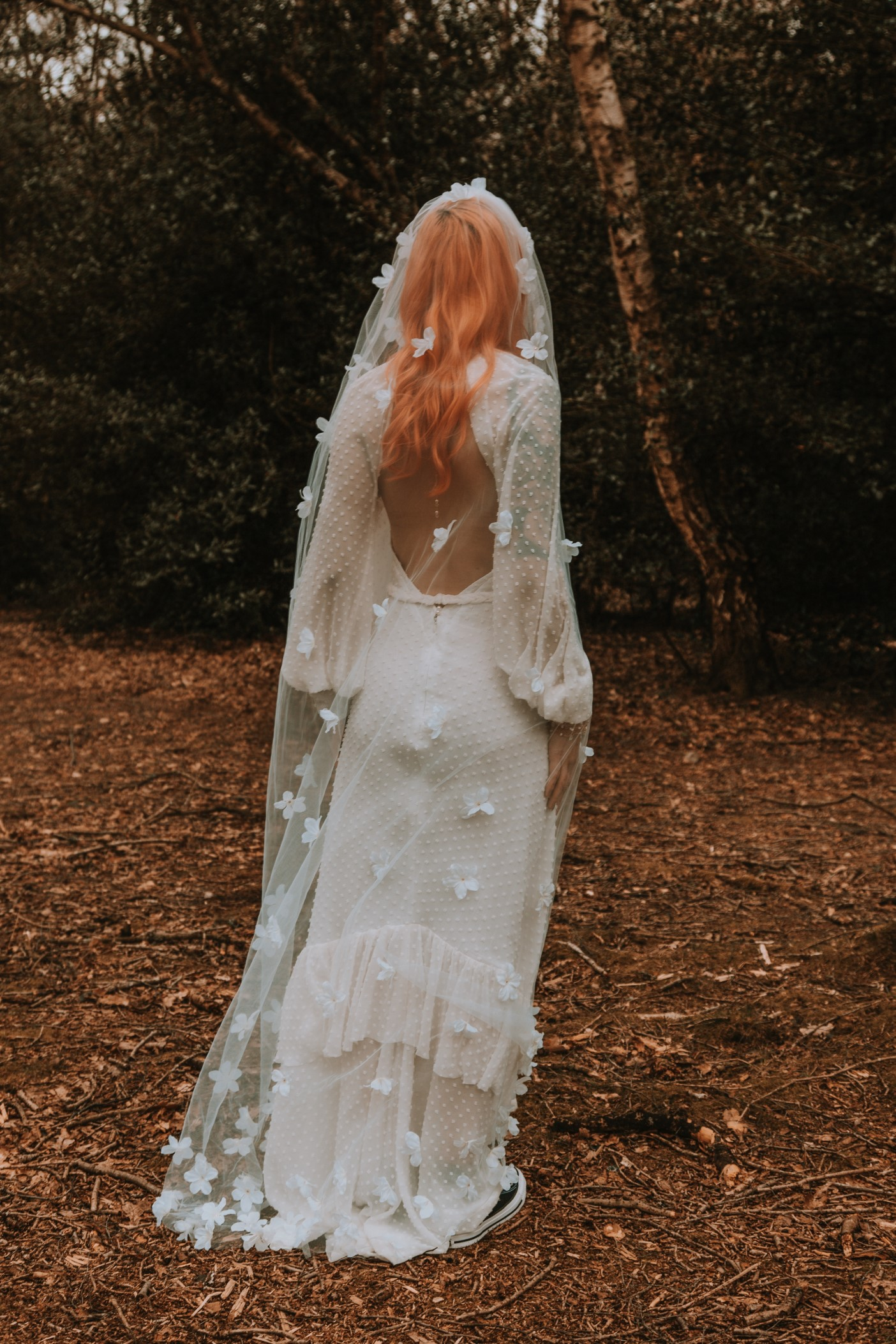 Alternative Forest Wedding - Sammy Leas Retro Emporium -Photography By Wills- alternative wedding - unconventional wedding- edgy woodland wedding- bohemian wedding dress