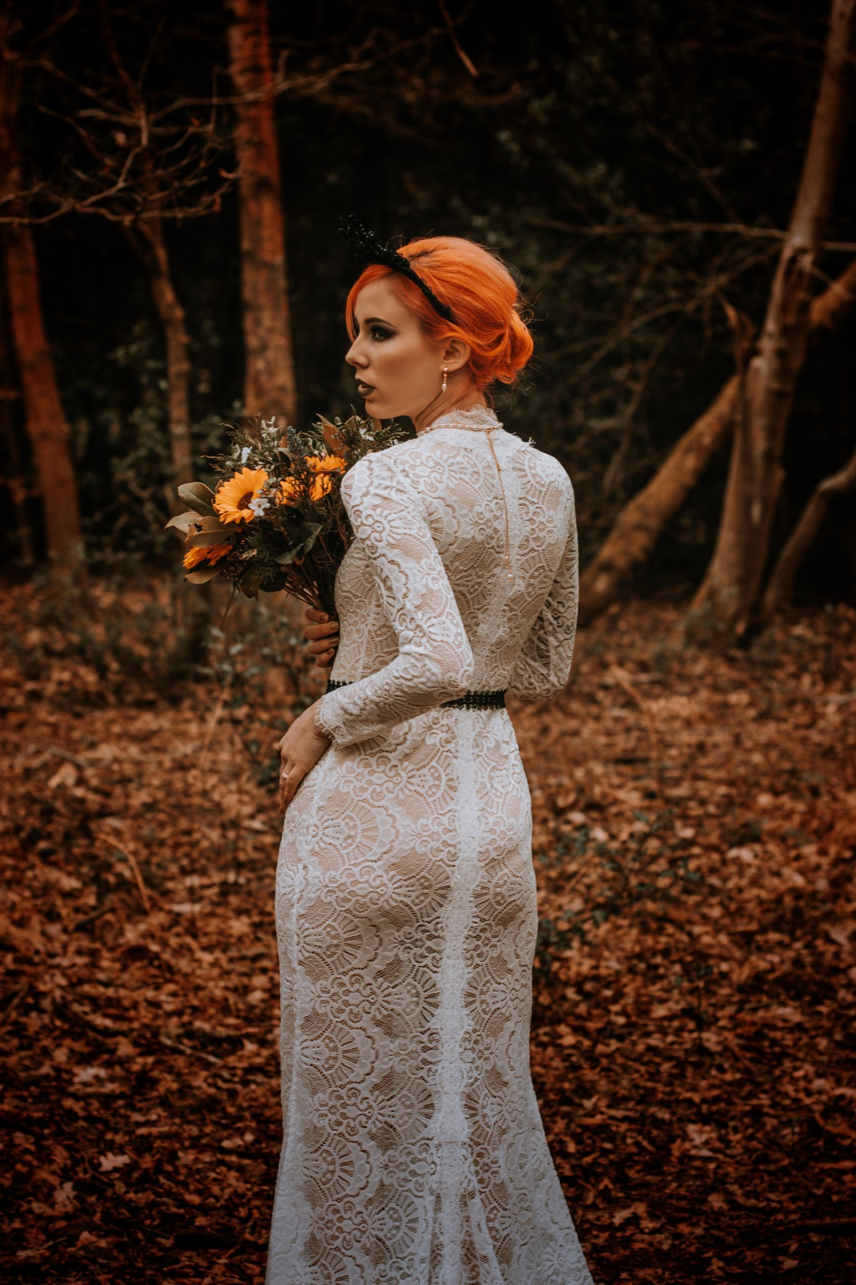 Alternative Forest Wedding - Sammy Leas Retro Emporium -Photography By Wills- alternative wedding - unconventional wedding- edgy woodland wedding- autumn wedding
