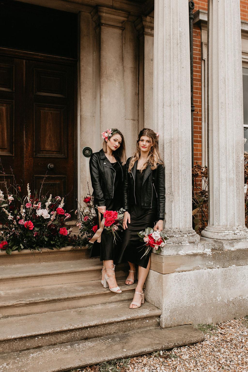 romantic woodland wedding - whimsical wedding- shakespeare wedding- unconventional wedding- unique bridesmaids dresses- back bridesmaids dresses