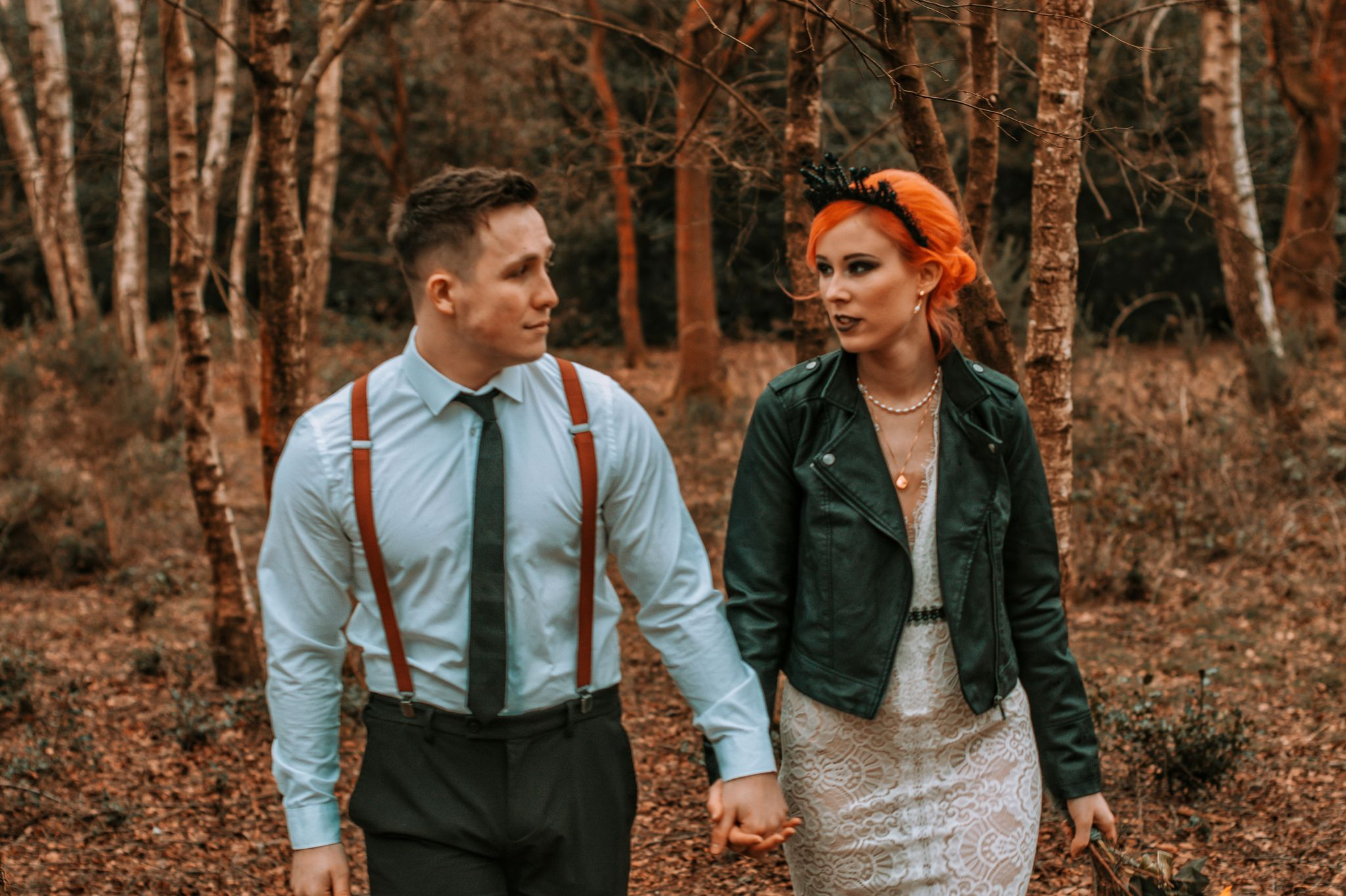 Alternative Forest Wedding - Sammy Leas Retro Emporium -Photography By Wills- alternative wedding - unconventional wedding- edgy woodland wedding