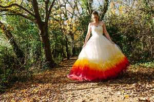 felicitywestmacott18 phoenix dipdye wedding dress