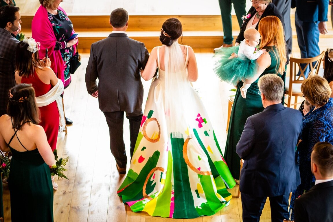hand painted wedding dress - abstract wedding dress