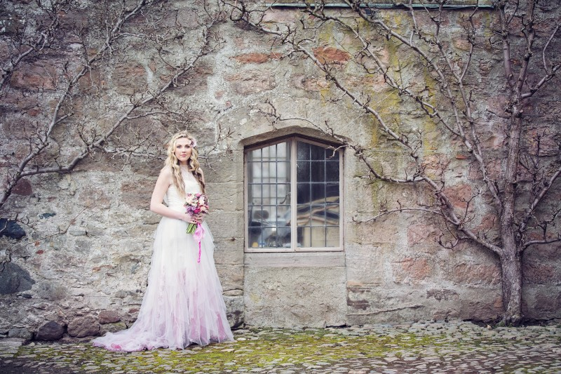 pink wedding dress- ombre wedding dress- coloured wedding dresses - princess wedding dress- unique wedding dress- colourful wedding dress