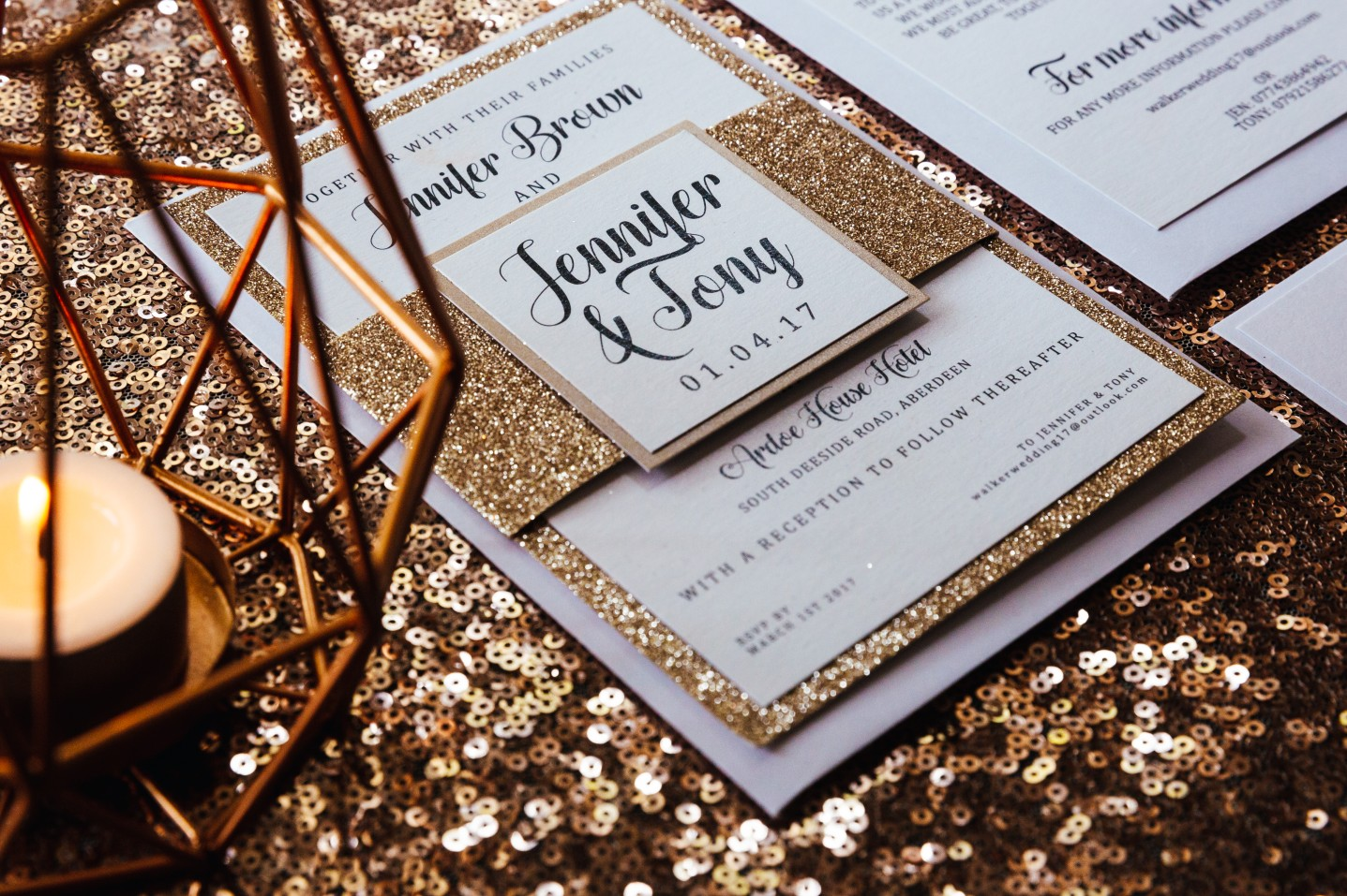choosing your wedding stationery - unique wedding stationery - quirky wedding stationery -alternative wedding stationery - elegant wedding stationery- alternative wedding directory - alternative weddings- gold wedding invitations - sparkly wedding invitations