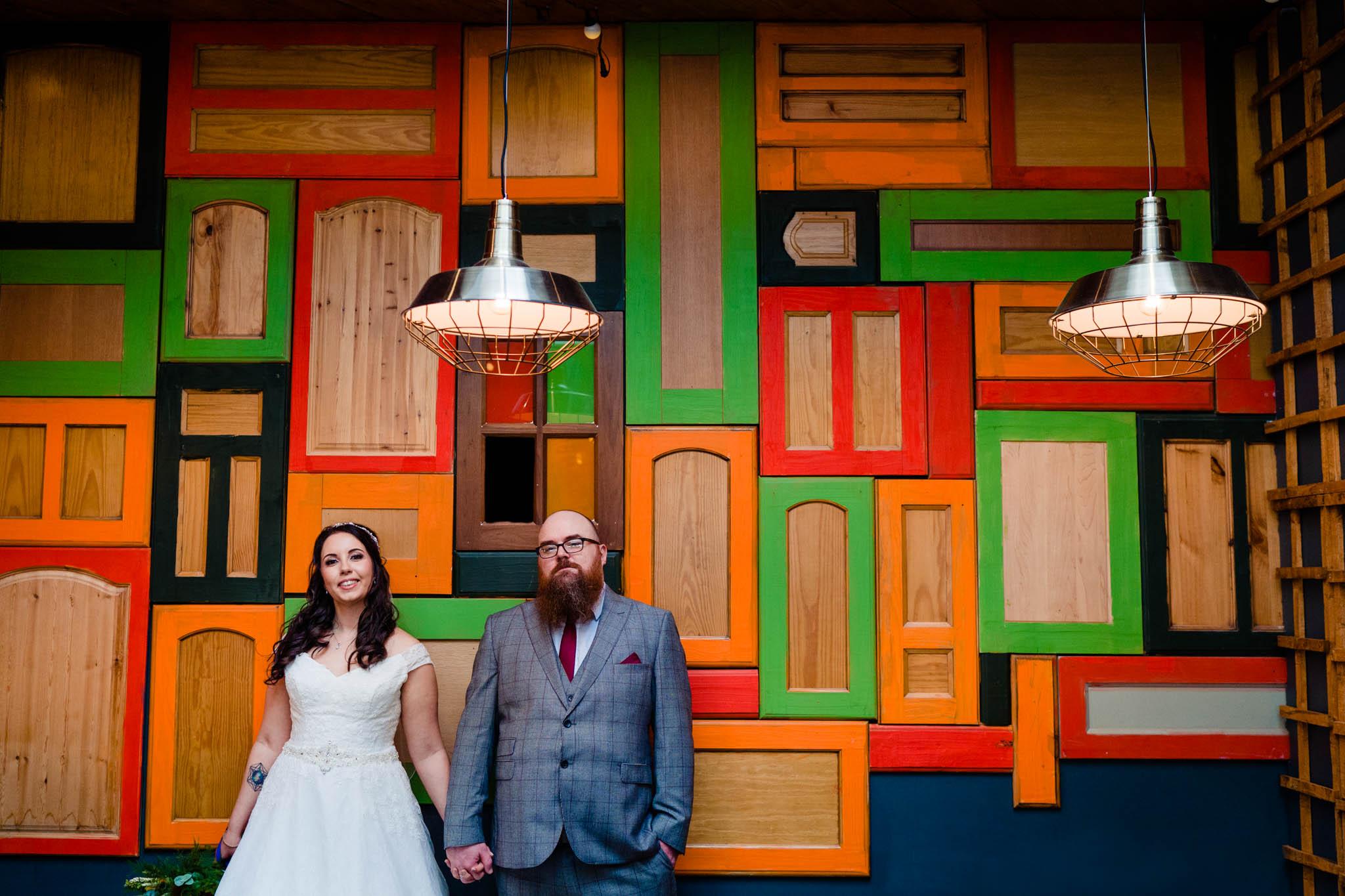 colourful wedding photo - vicki clayson photography