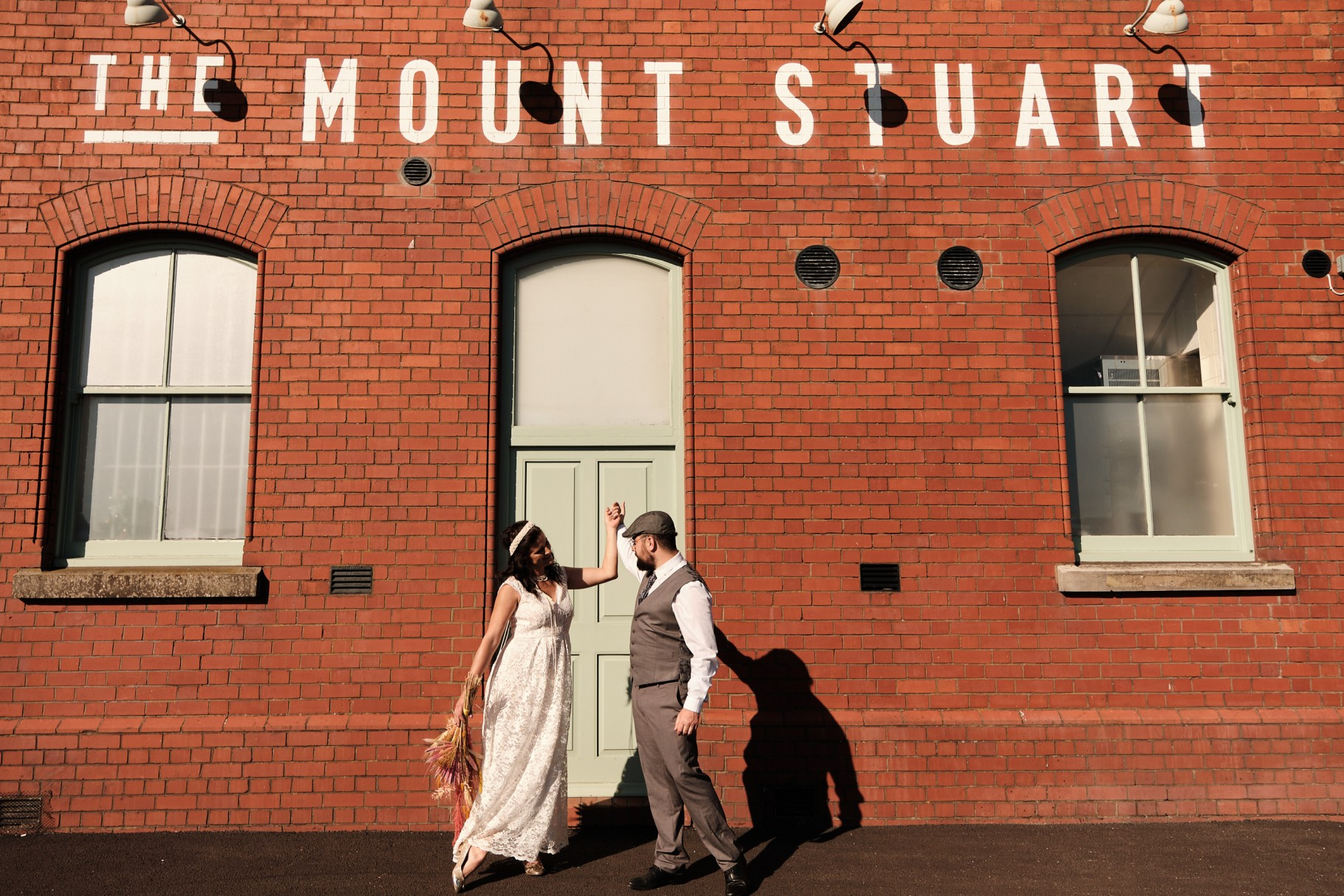 city elopement- cardiff bay wedding- wales elopement- urban elopement - cardiff wedding - colourful summer wedding- the mount stuart